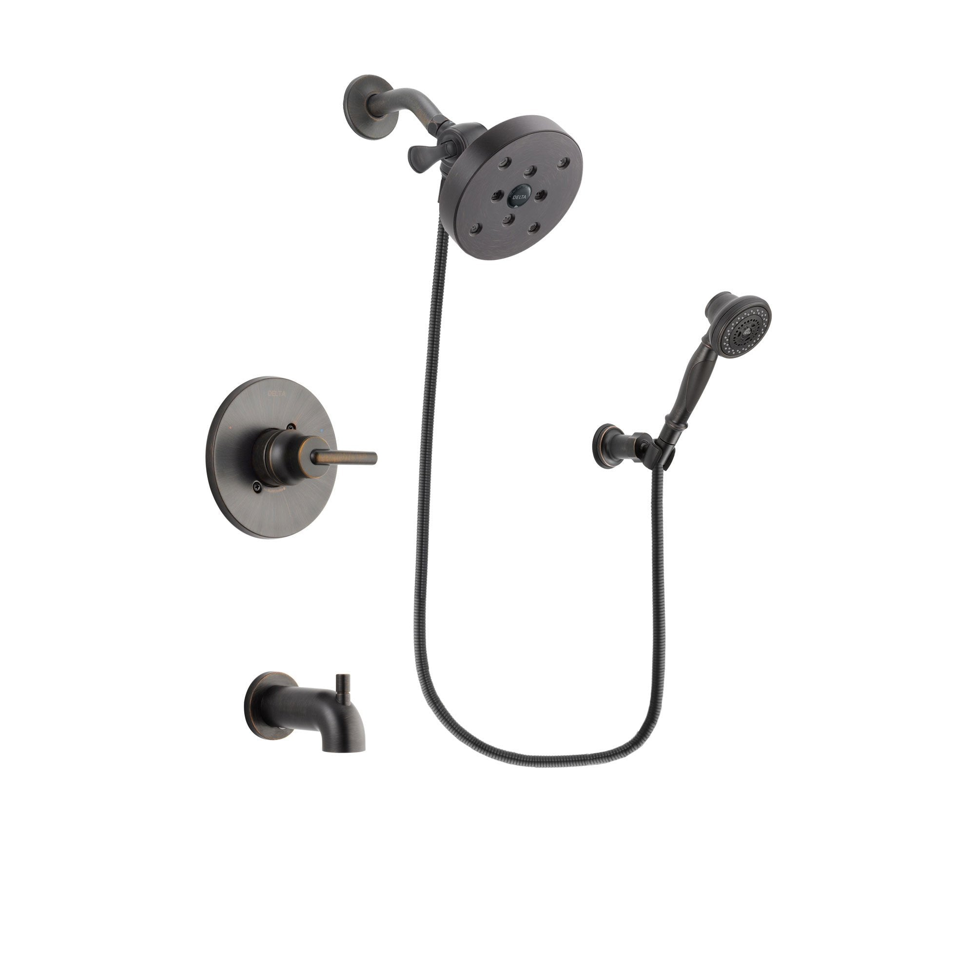 Delta Trinsic Venetian Bronze Tub and Shower System with Hand Shower DSP3083V