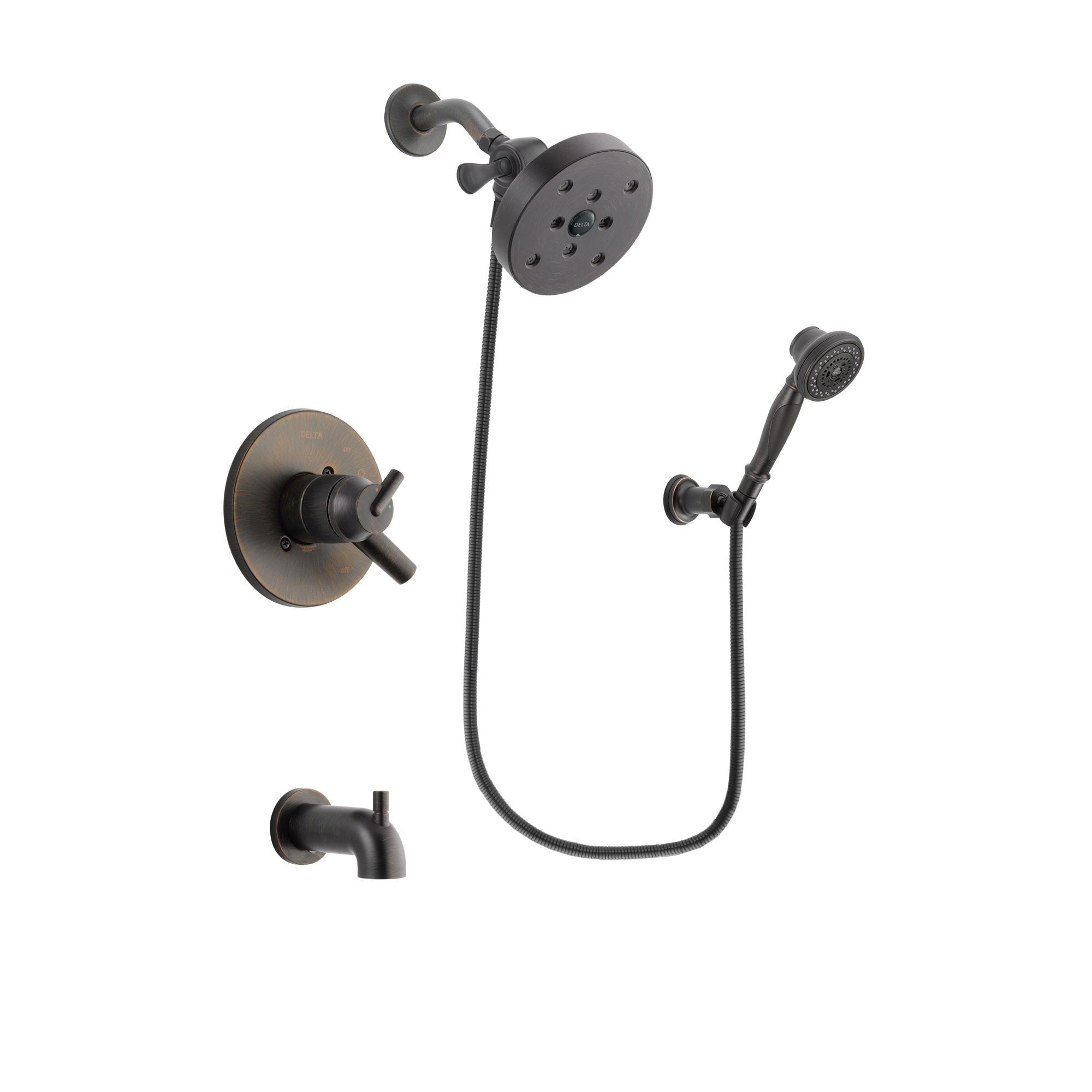 Delta Trinsic Venetian Bronze Tub and Shower System with Hand Shower DSP3091V