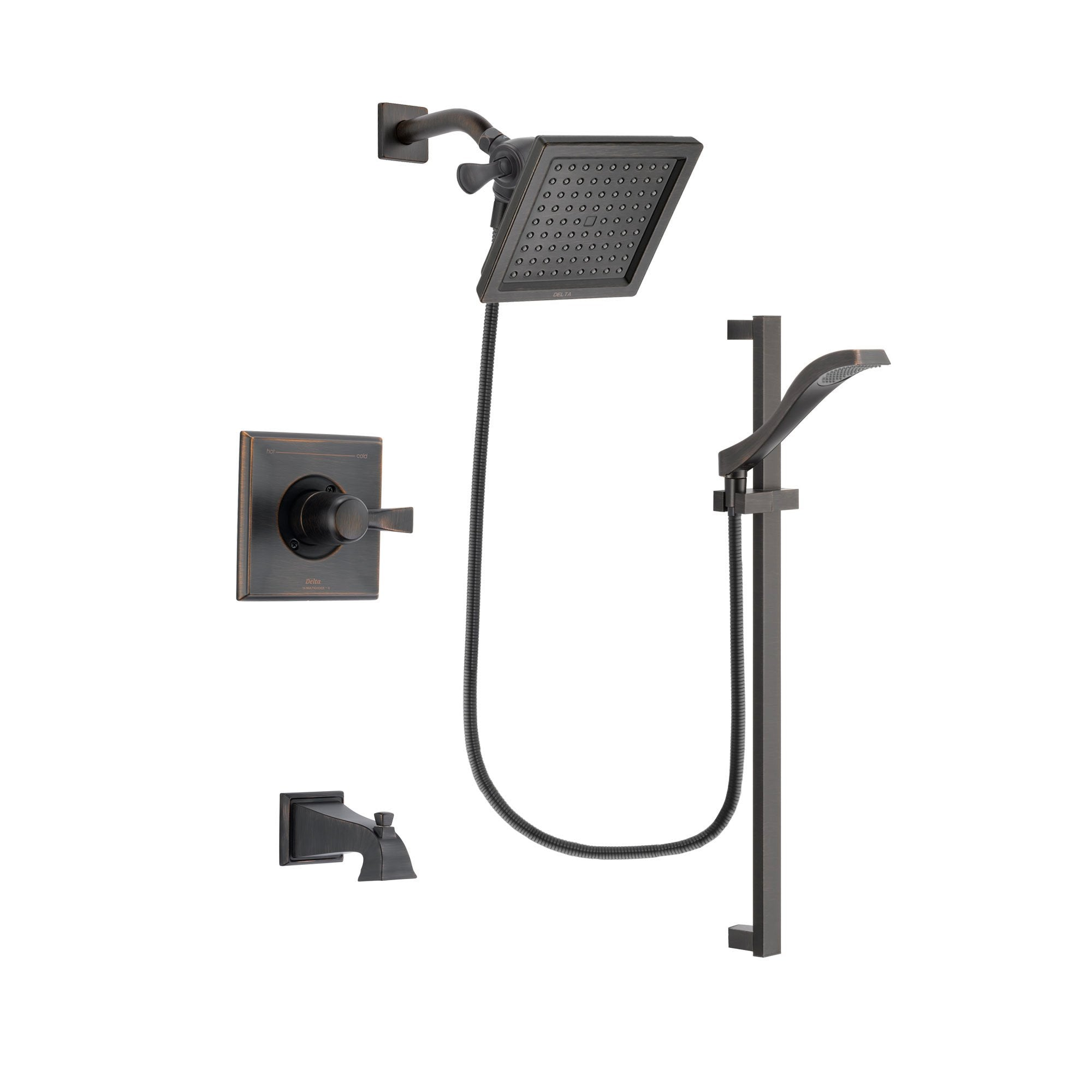 Delta Dryden Venetian Bronze Tub and Shower Faucet System w/Hand Shower DSP3117V