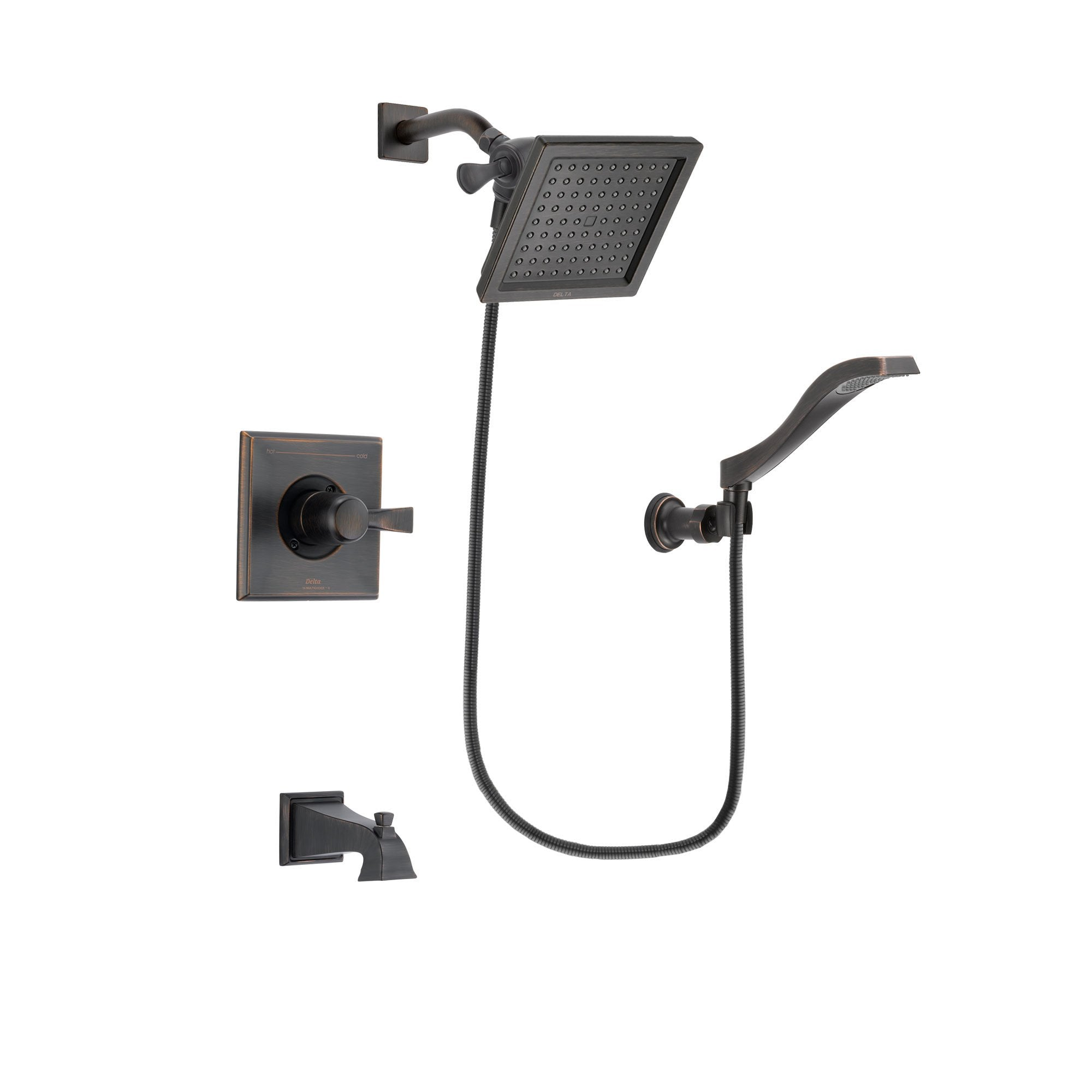 Delta Dryden Venetian Bronze Tub and Shower Faucet System w/Hand Shower DSP3225V