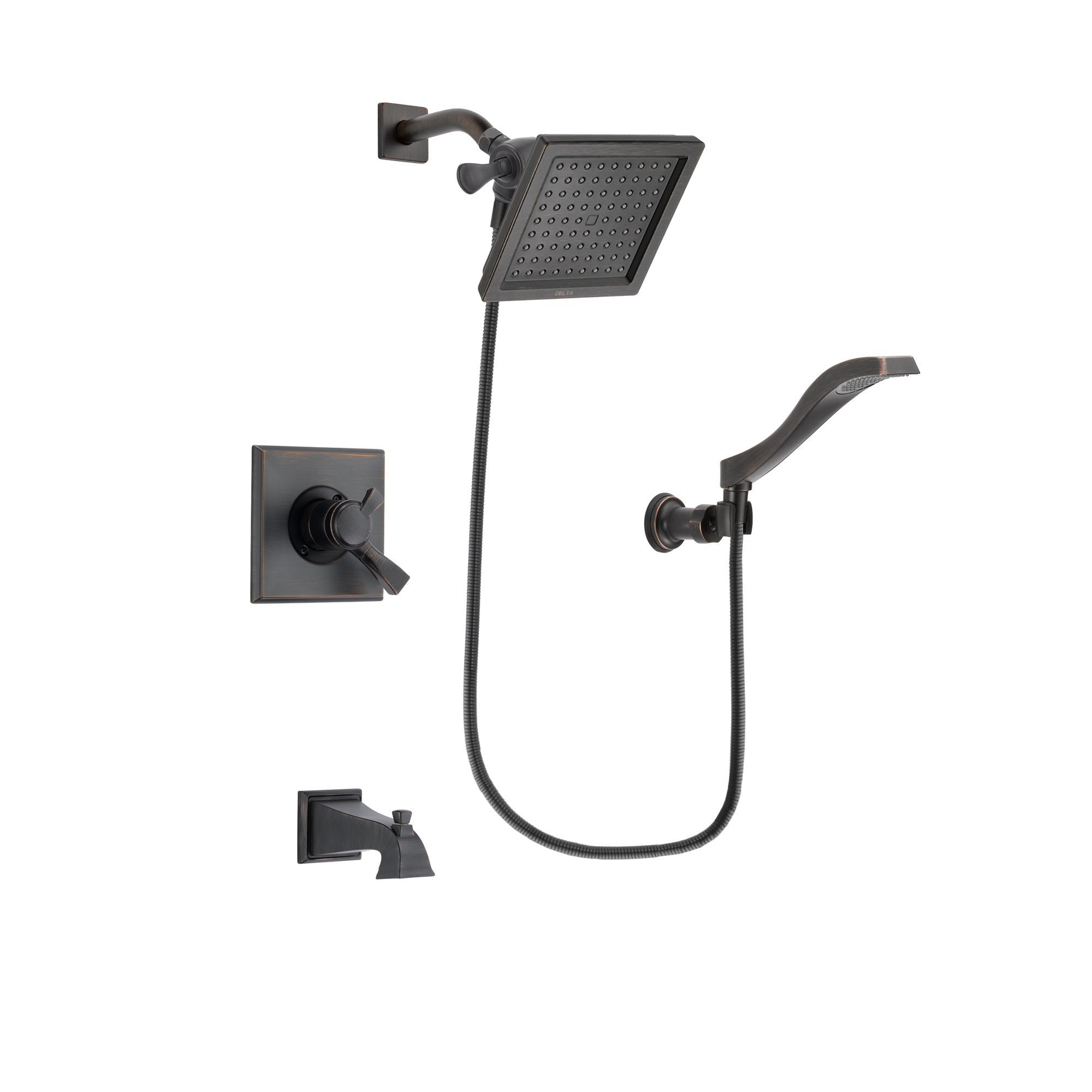 Delta Dryden Venetian Bronze Tub and Shower Faucet System w/Hand Shower DSP3229V