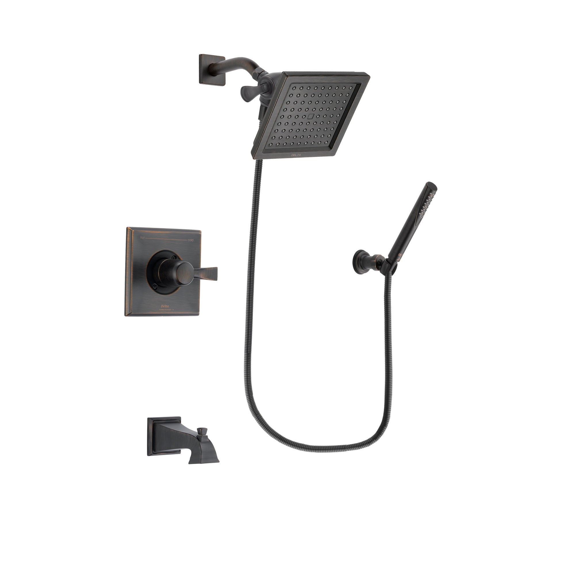 Delta Dryden Venetian Bronze Tub and Shower Faucet System w/Hand Shower DSP3297V