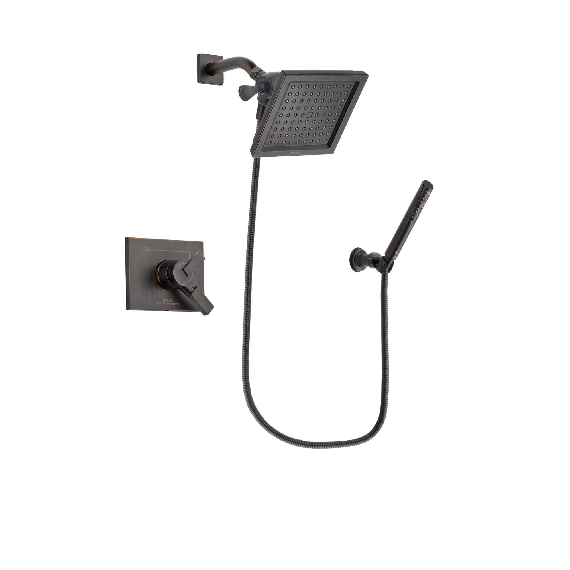 Delta Vero Venetian Bronze Shower Faucet System Package with Hand Spray DSP3304V