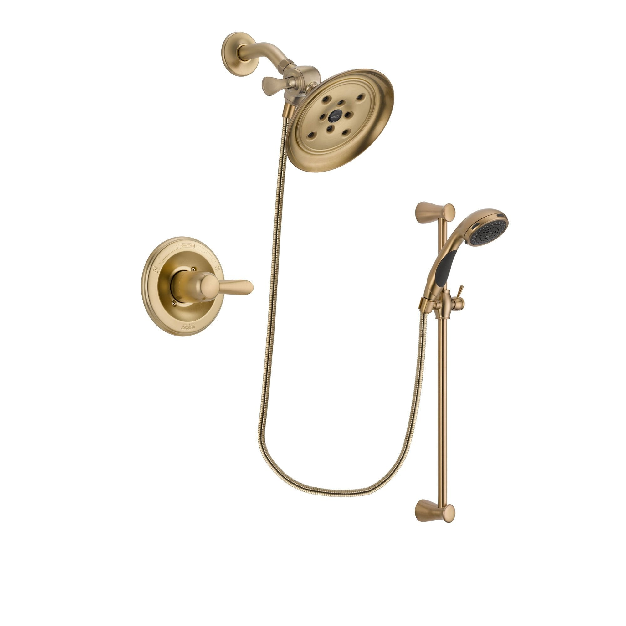 Delta Lahara Champagne Bronze Shower Faucet System with Hand Shower DSP3482V