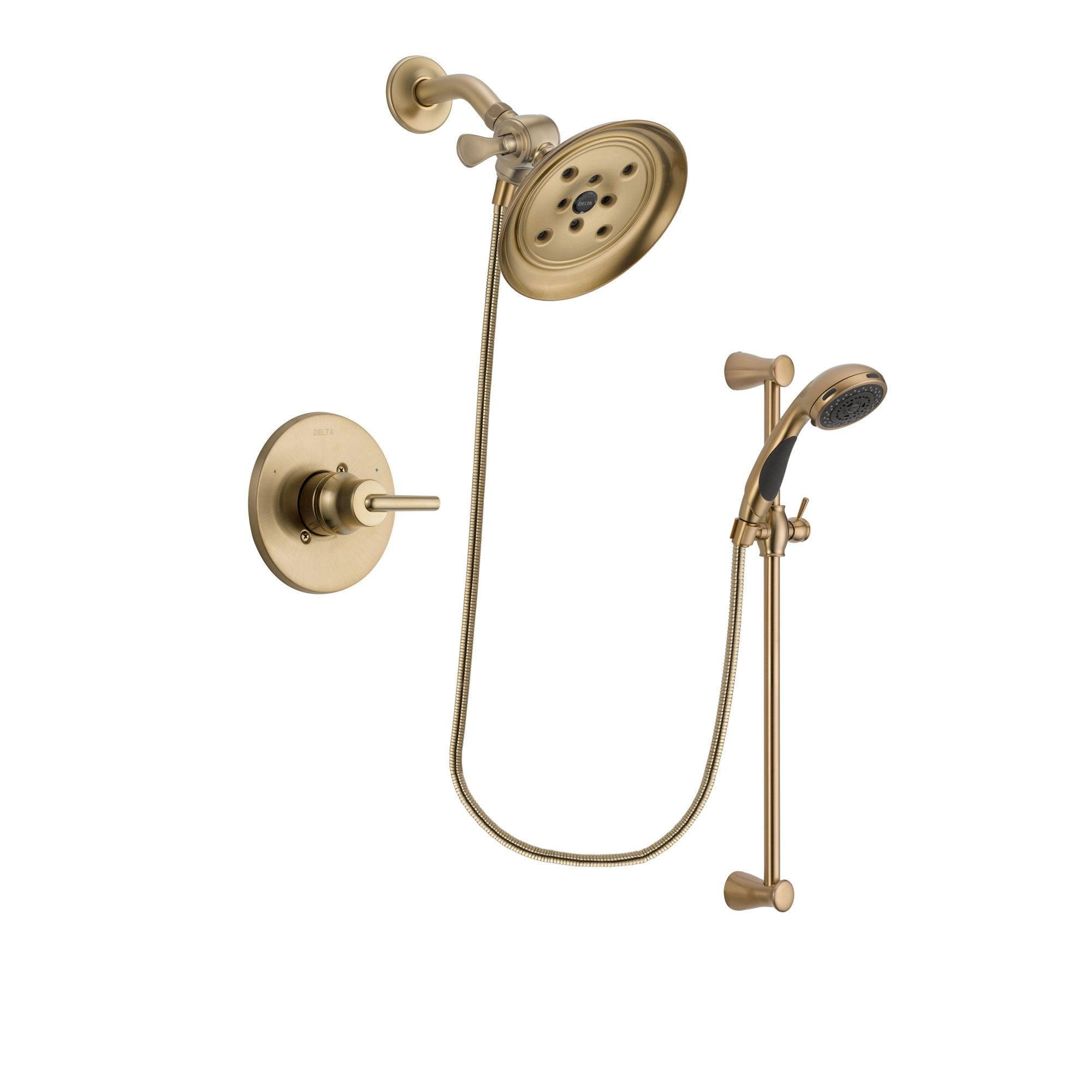 Delta Trinsic Champagne Bronze Shower Faucet System with Hand Shower DSP3484V