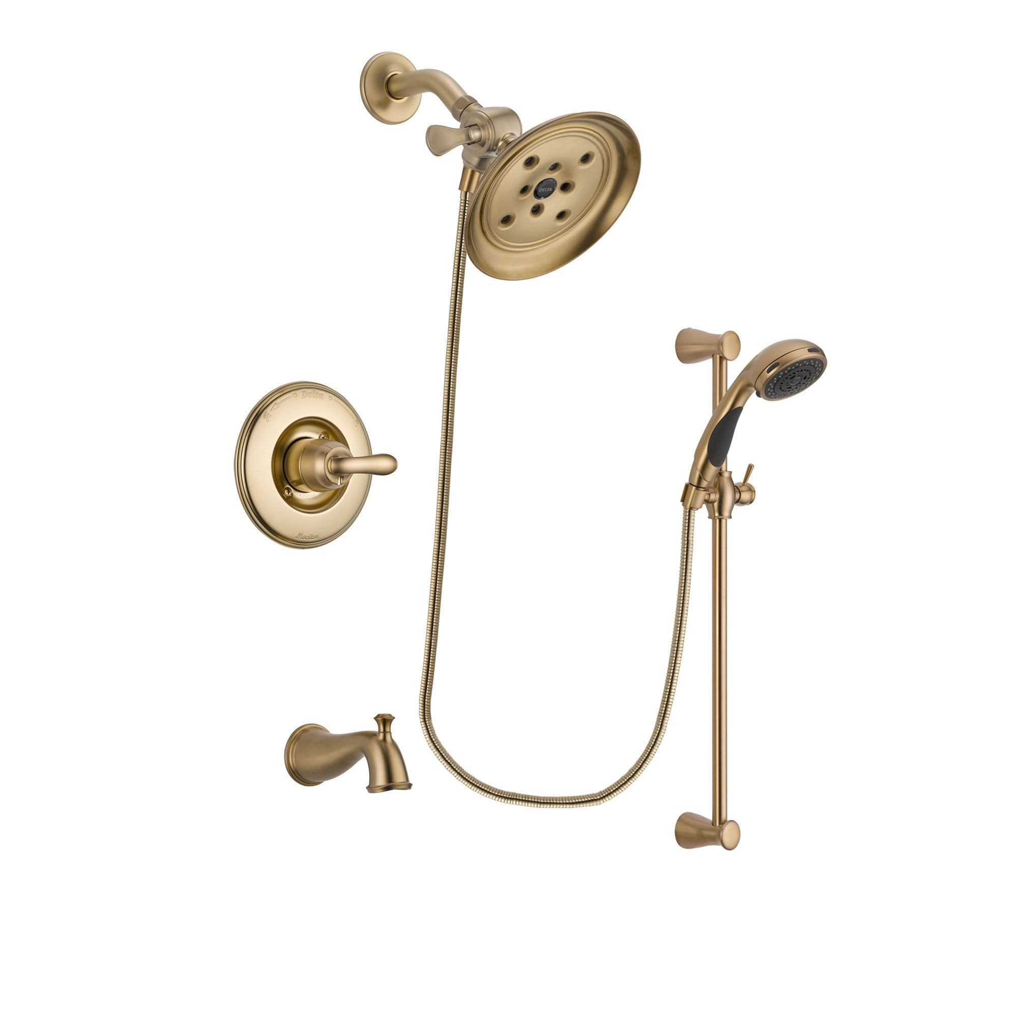 Delta Linden Champagne Bronze Tub and Shower System with Hand Shower DSP3487V