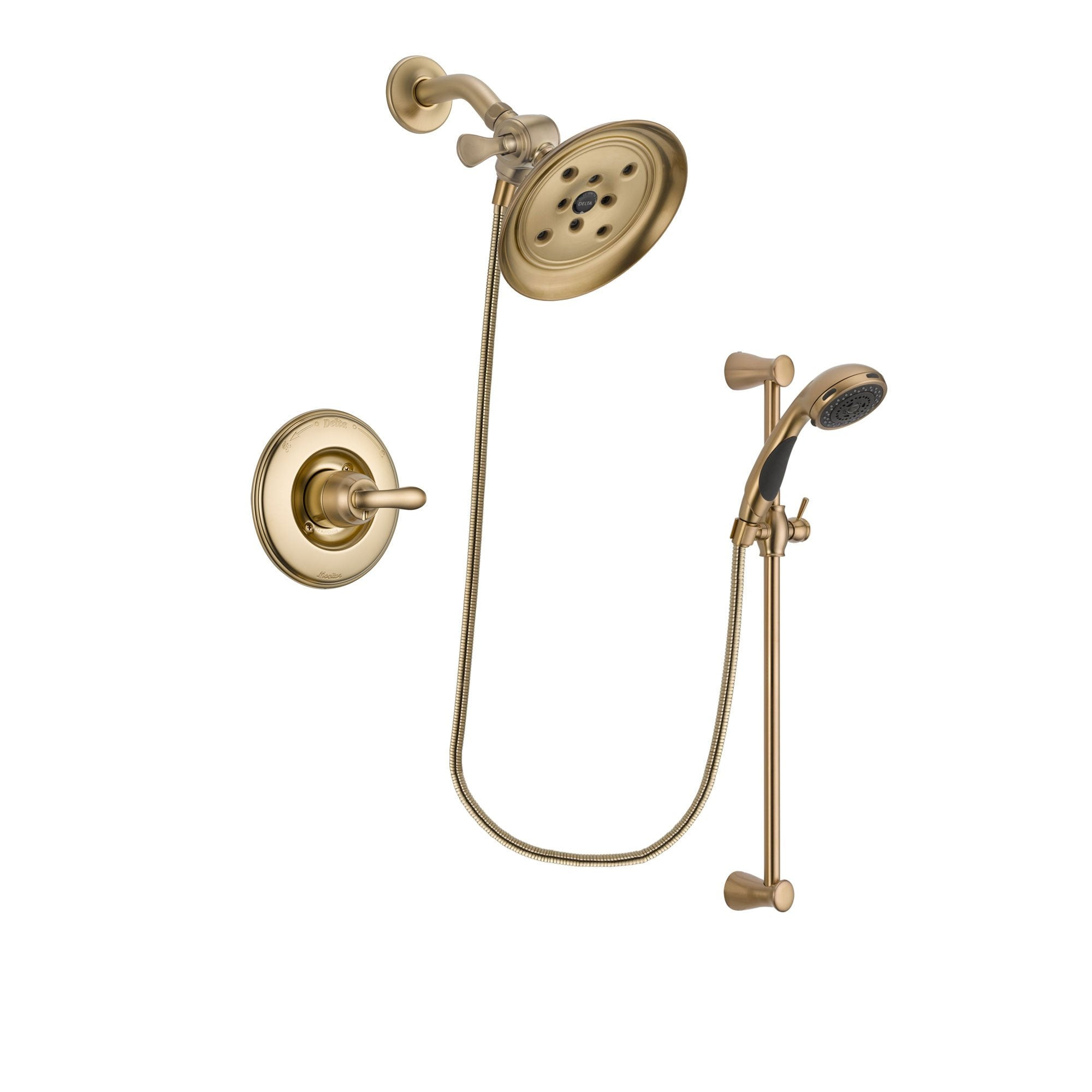 Delta Linden Champagne Bronze Shower Faucet System with Hand Shower DSP3488V