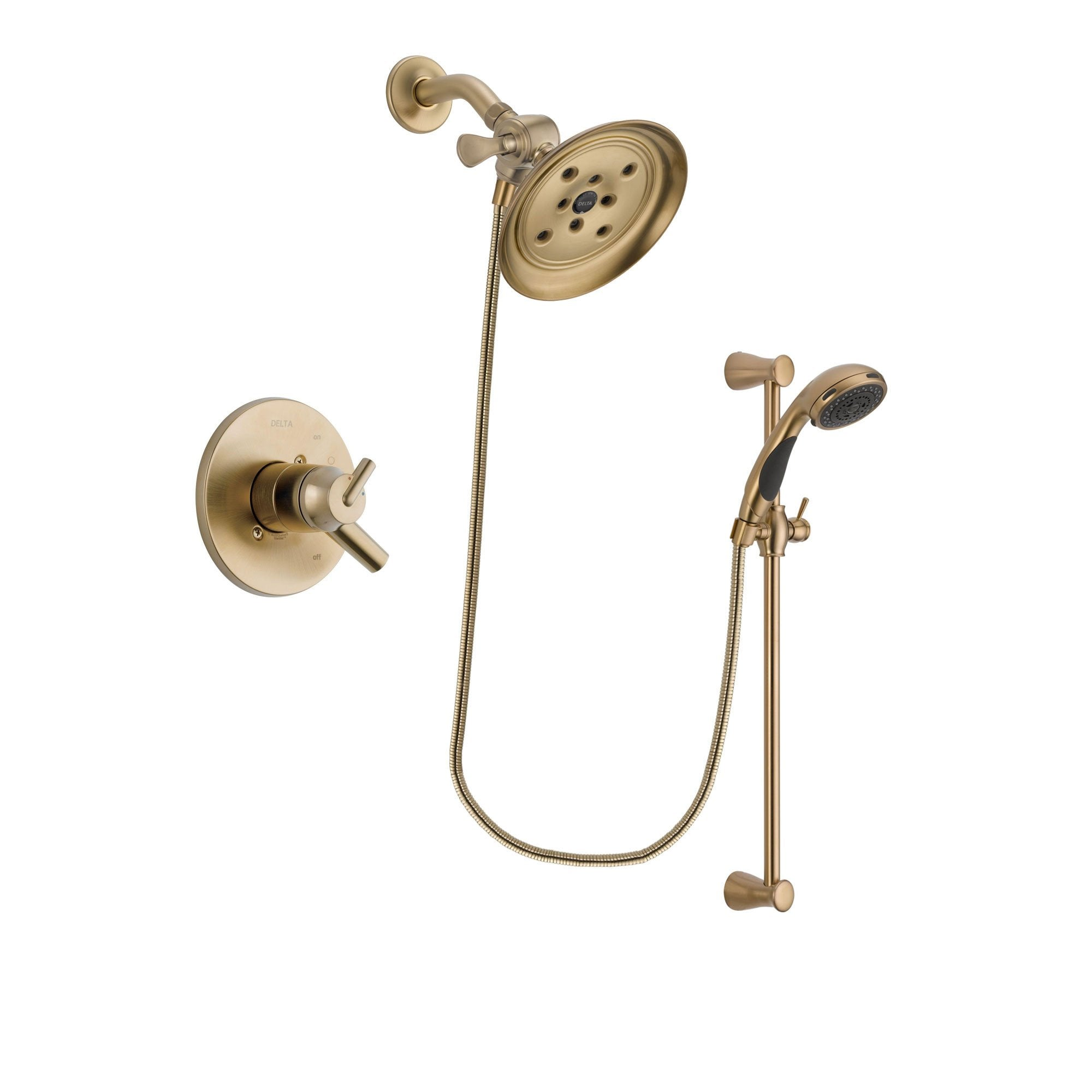 Delta Trinsic Champagne Bronze Shower Faucet System with Hand Shower DSP3492V