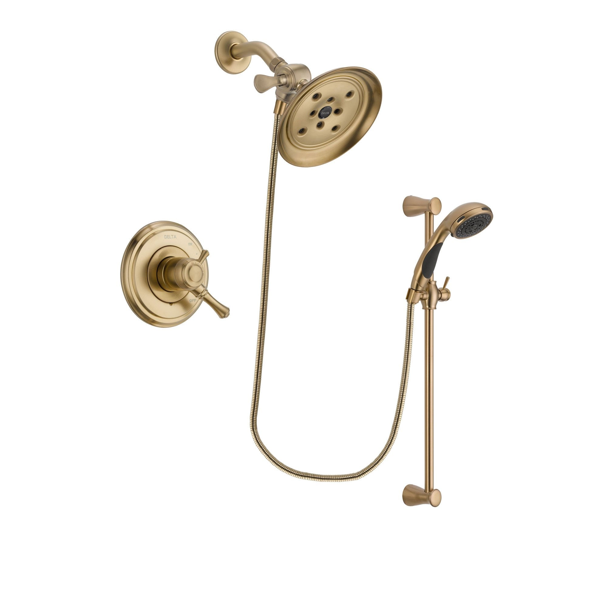 Delta Cassidy Champagne Bronze Shower Faucet System with Hand Shower DSP3498V