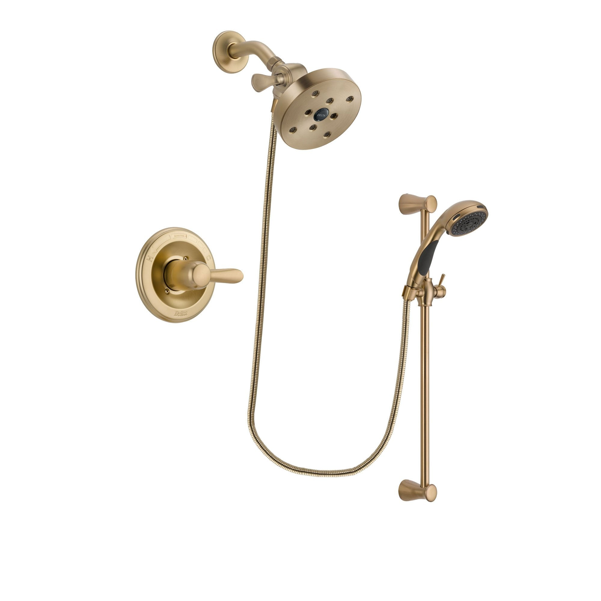 Delta Lahara Champagne Bronze Shower Faucet System with Hand Shower DSP3508V