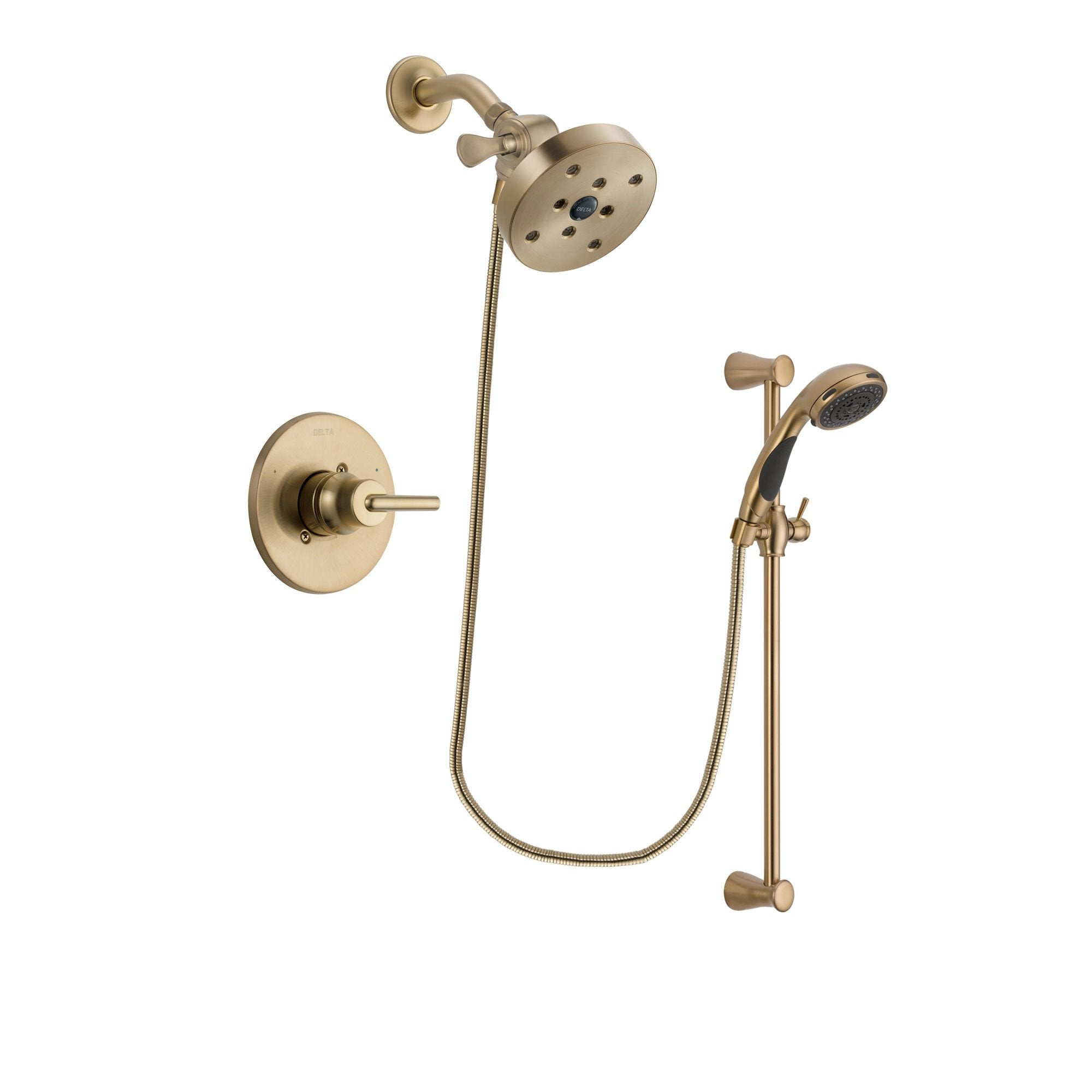 Delta Trinsic Champagne Bronze Shower Faucet System with Hand Shower DSP3510V