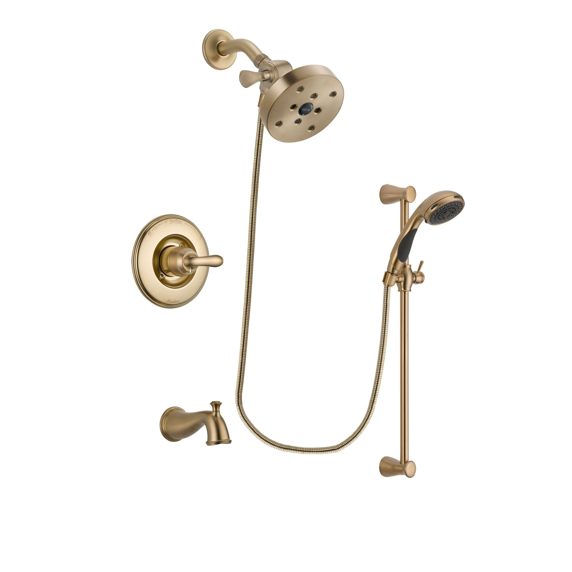 Delta Linden Champagne Bronze Tub and Shower System with Hand Shower DSP3513V