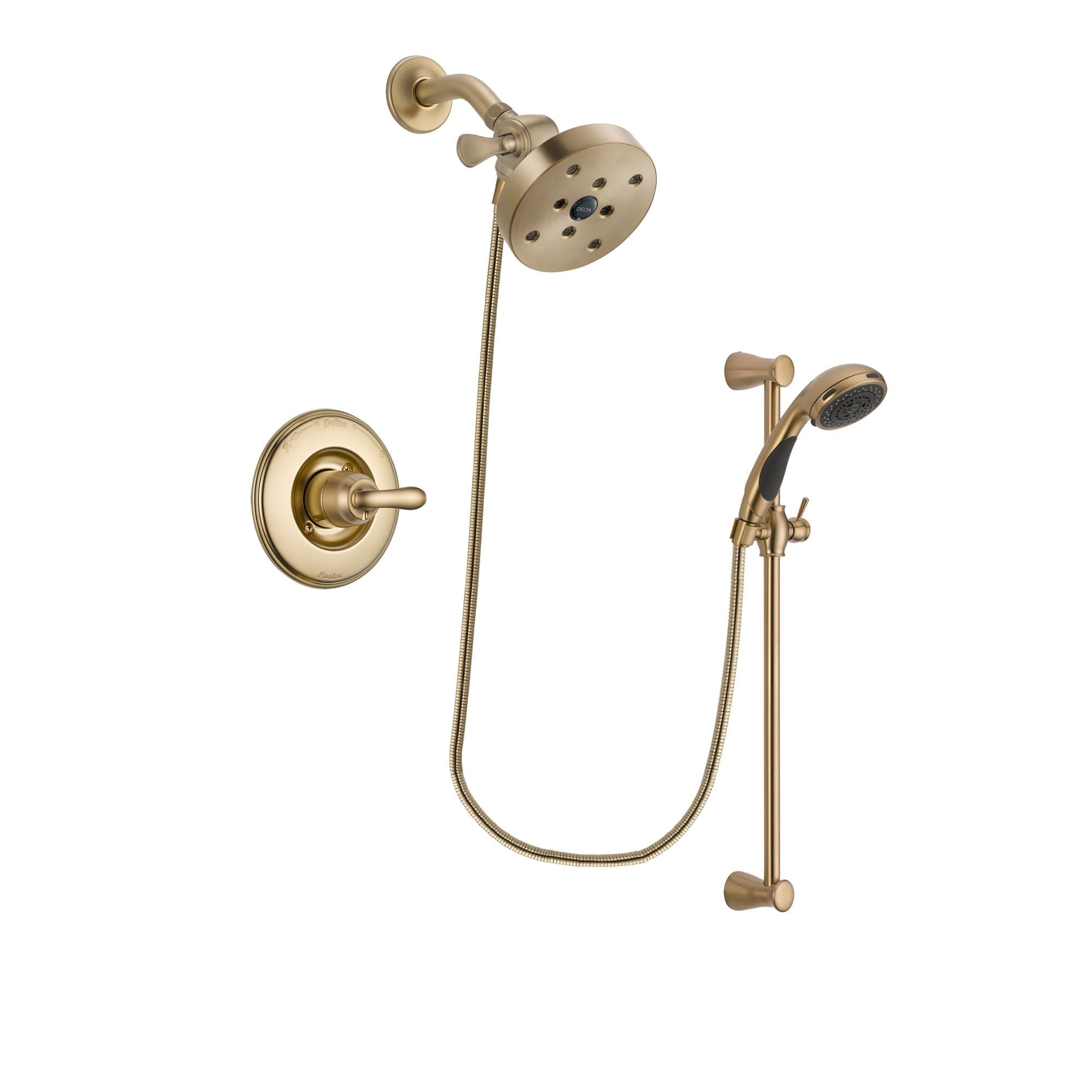 Delta Linden Champagne Bronze Shower Faucet System with Hand Shower DSP3514V