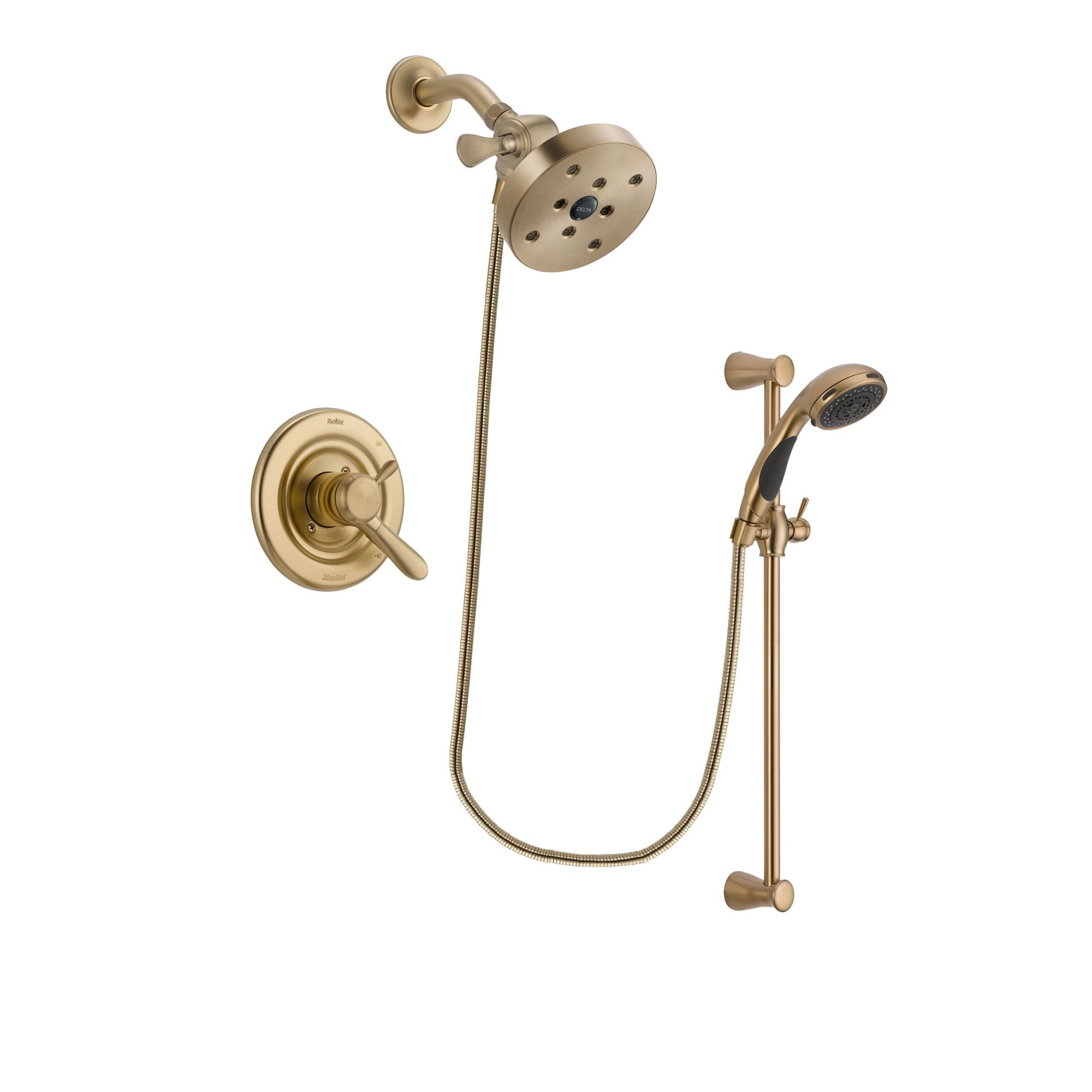 Delta Lahara Champagne Bronze Shower Faucet System with Hand Shower DSP3516V