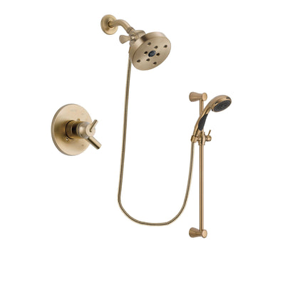 Delta Trinsic Champagne Bronze Shower Faucet System with Hand Shower DSP3518V