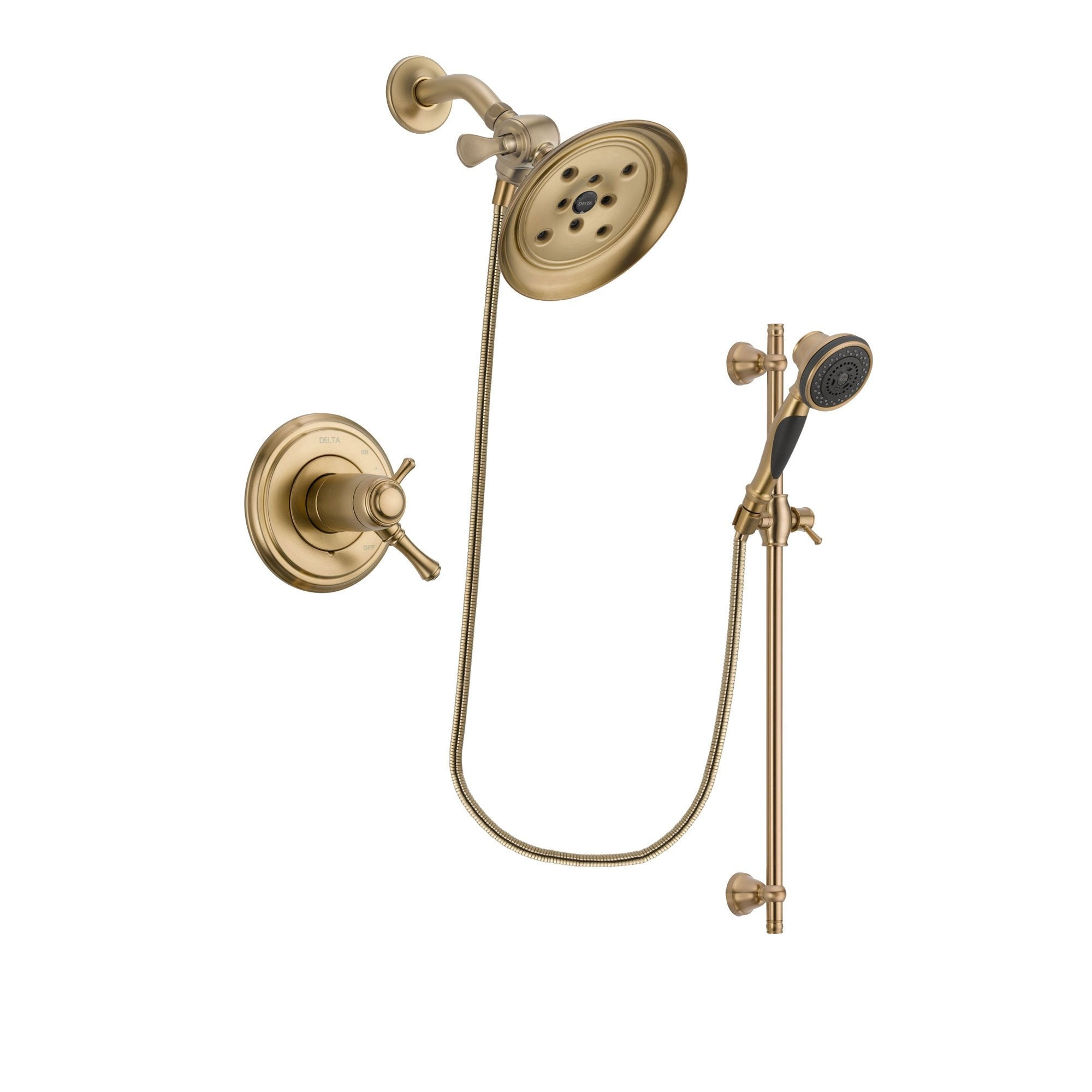 Delta Cassidy Champagne Bronze Shower Faucet System with Hand Shower DSP3584V