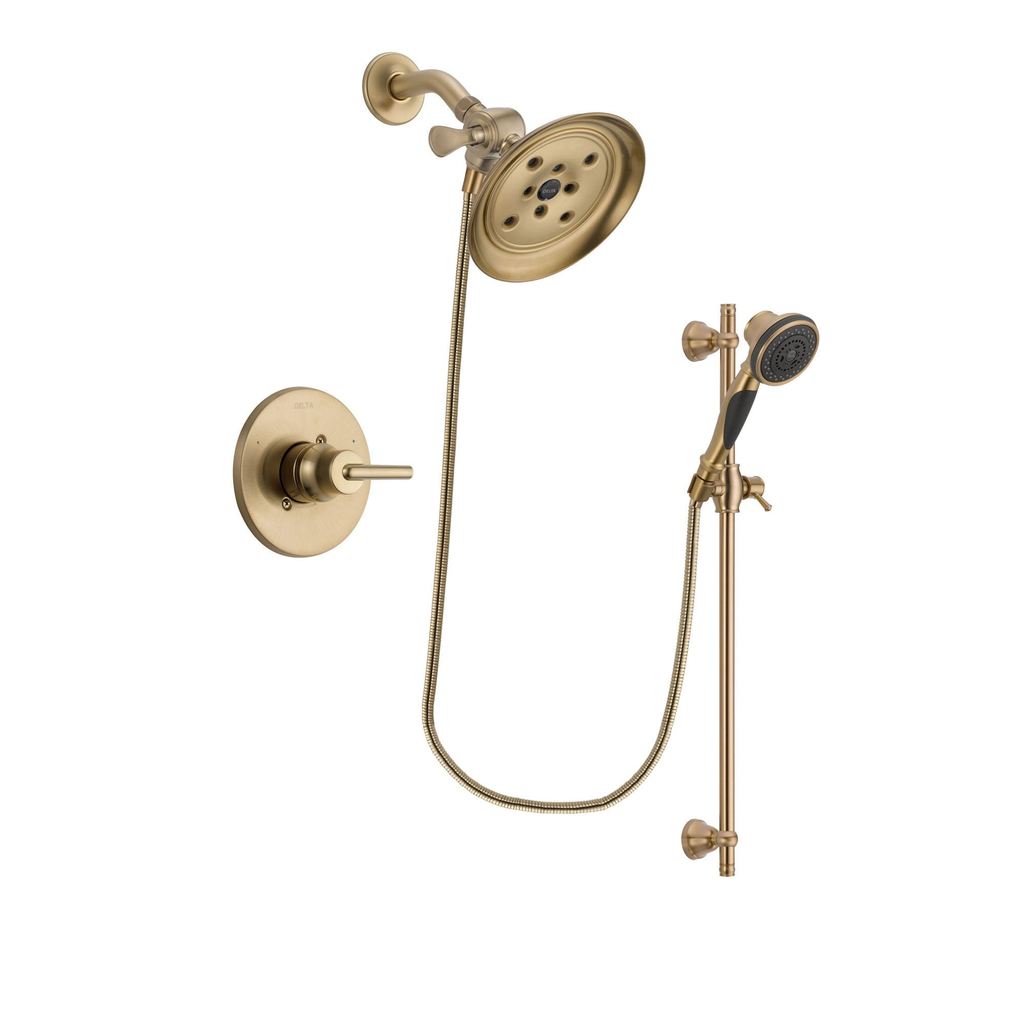 Delta Trinsic Champagne Bronze Shower Faucet System with Hand Shower DSP3588V