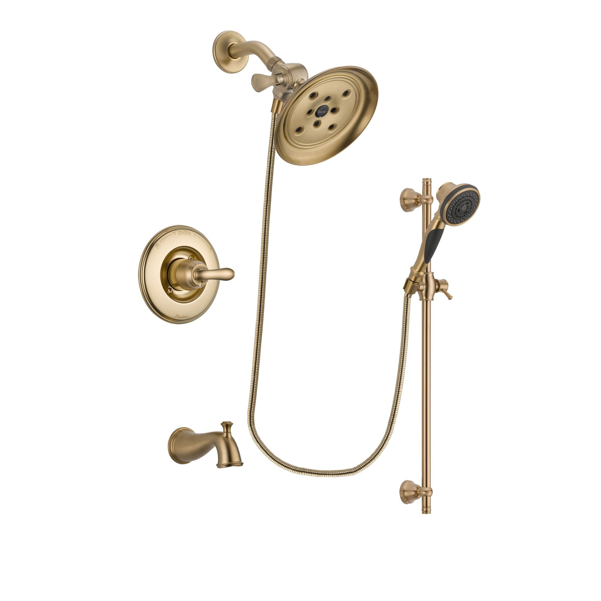 Delta Linden Champagne Bronze Tub and Shower System with Hand Shower DSP3591V