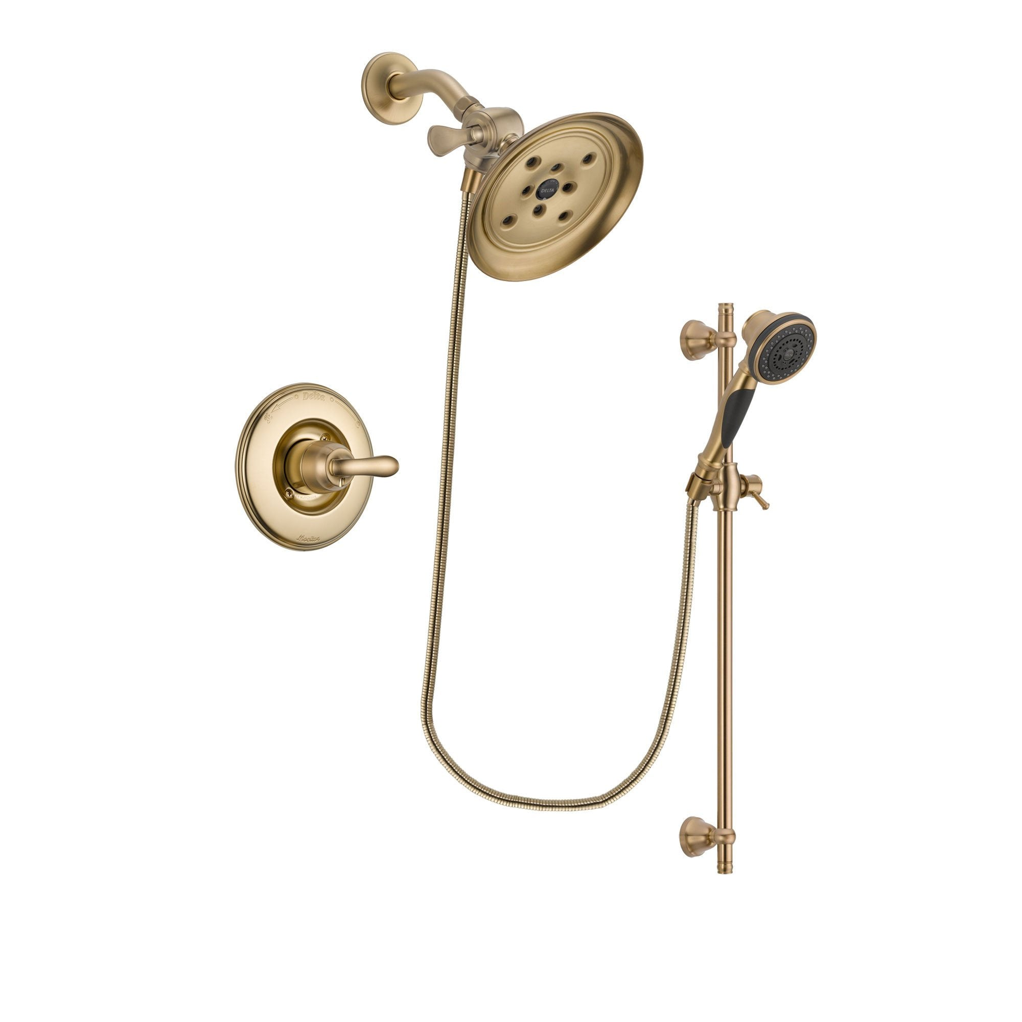 Delta Linden Champagne Bronze Shower Faucet System with Hand Shower DSP3592V