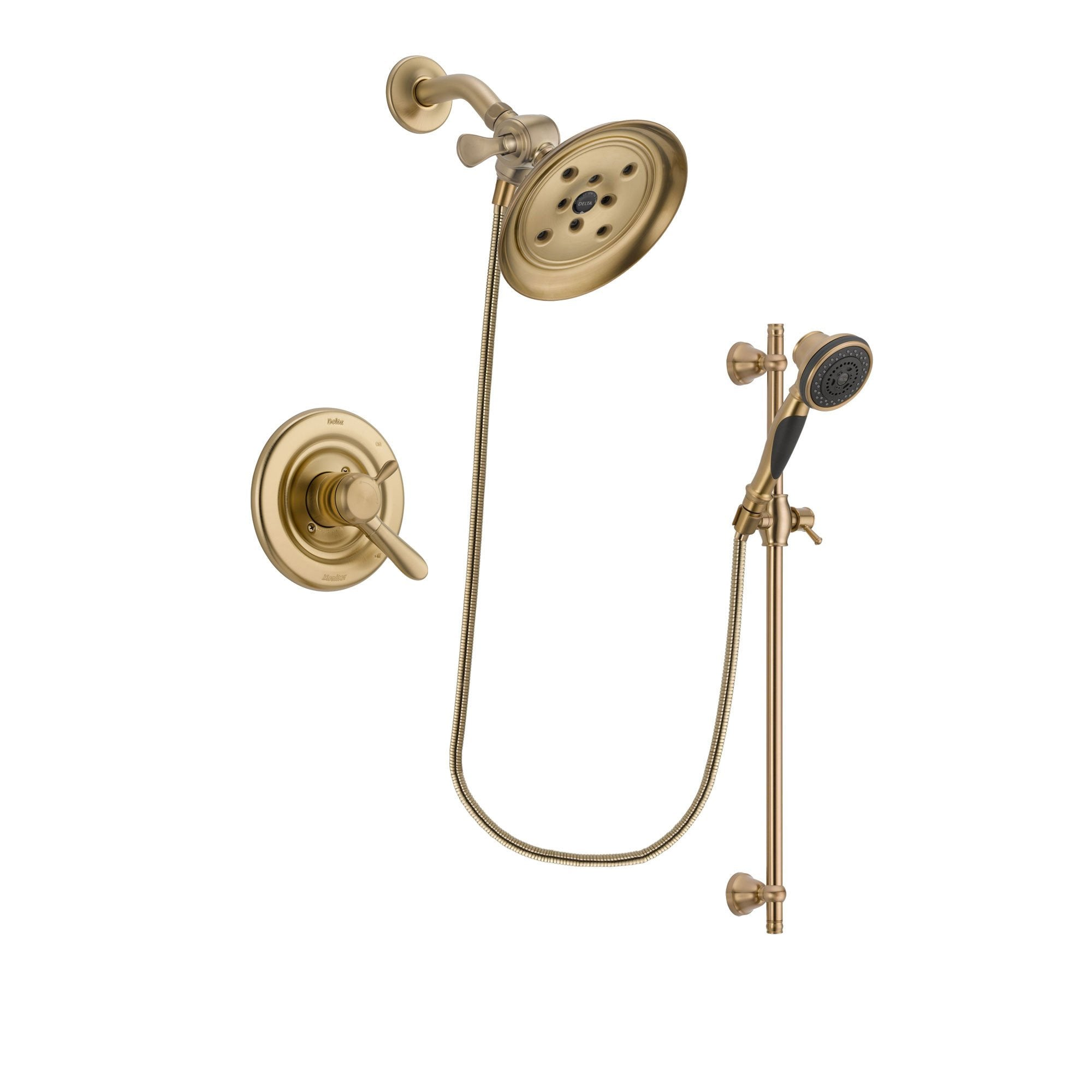 Delta Lahara Champagne Bronze Shower Faucet System with Hand Shower DSP3594V