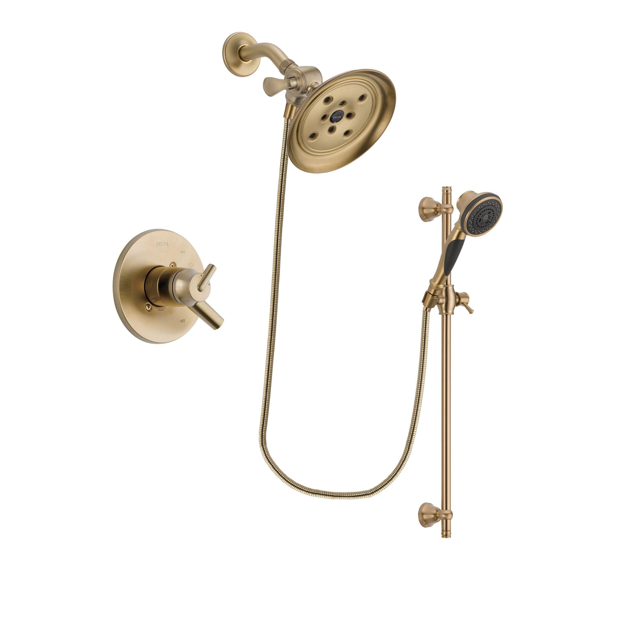 Delta Trinsic Champagne Bronze Shower Faucet System with Hand Shower DSP3596V