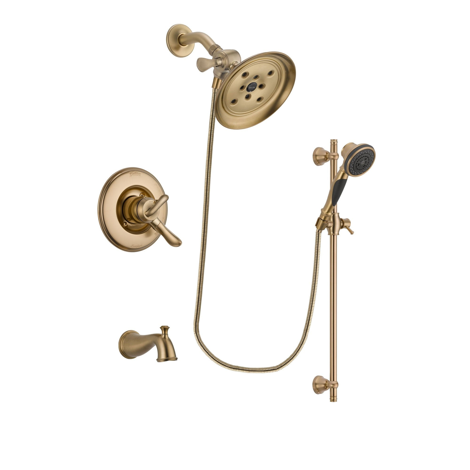 Delta Linden Champagne Bronze Tub and Shower System with Hand Shower DSP3599V