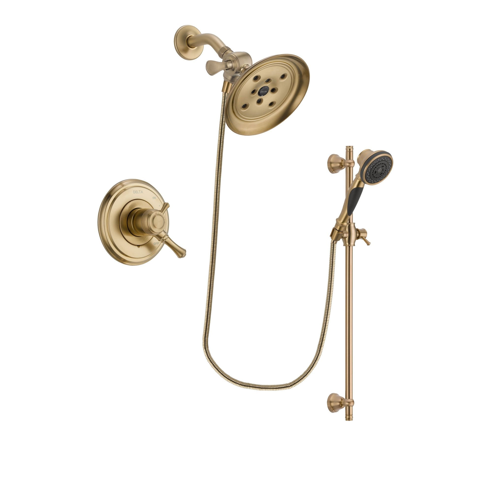 Delta Cassidy Champagne Bronze Shower Faucet System with Hand Shower DSP3602V