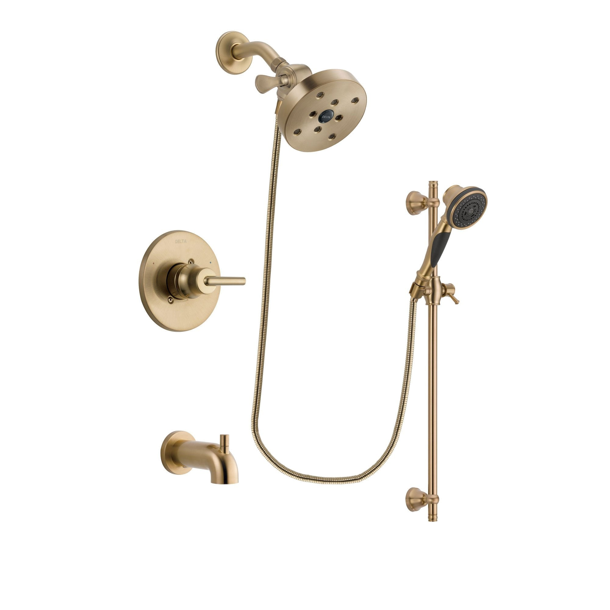 Delta Trinsic Champagne Bronze Tub and Shower System with Hand Shower DSP3613V