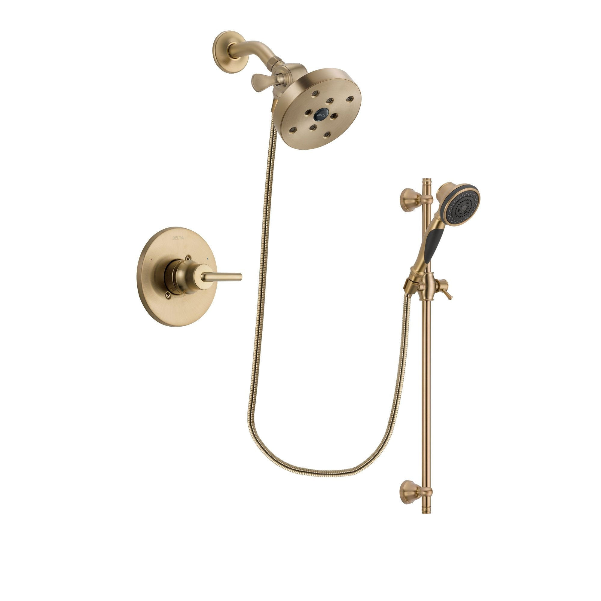 Delta Trinsic Champagne Bronze Shower Faucet System with Hand Shower DSP3614V