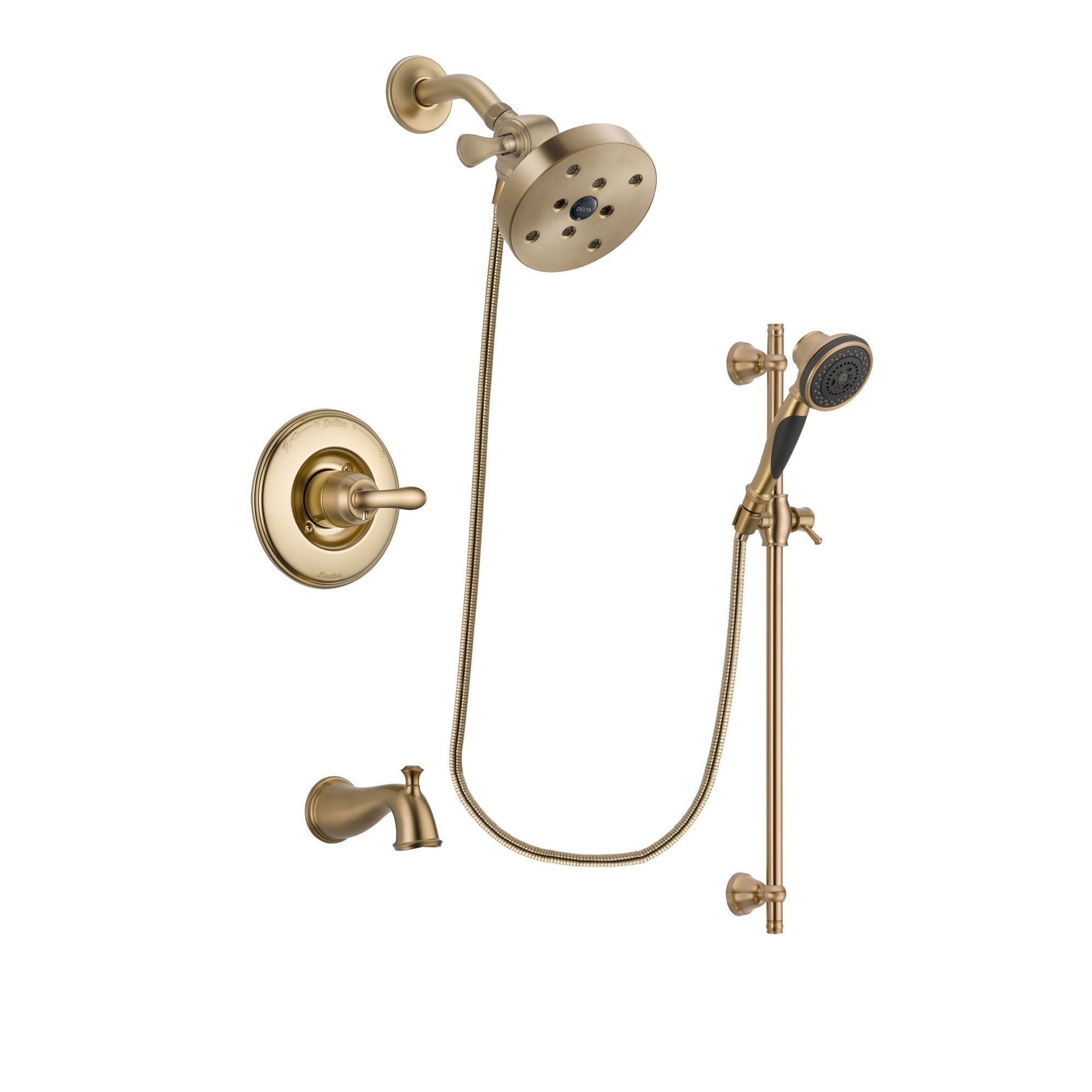 Delta Linden Champagne Bronze Tub and Shower System with Hand Shower DSP3617V
