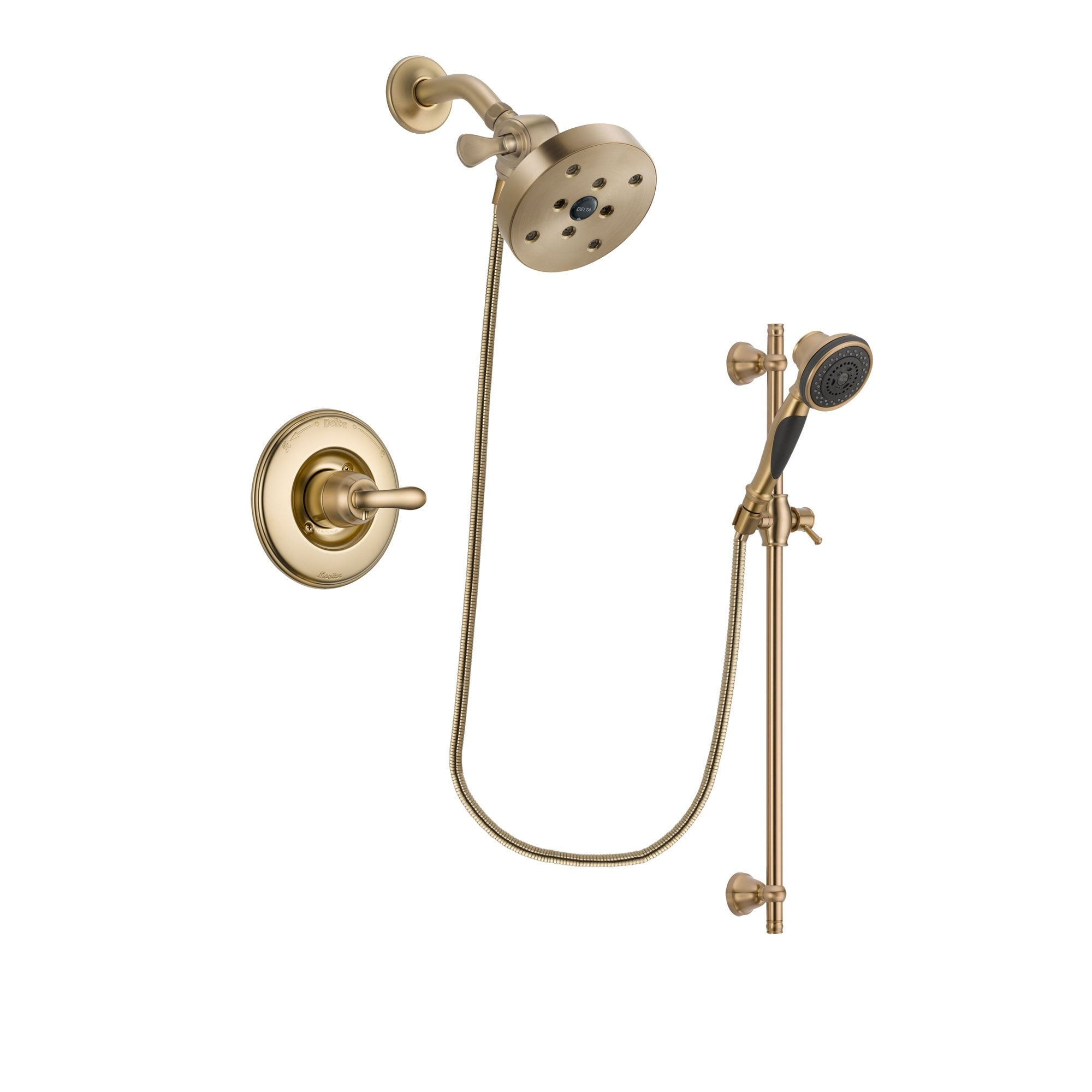 Delta Linden Champagne Bronze Shower Faucet System with Hand Shower DSP3618V