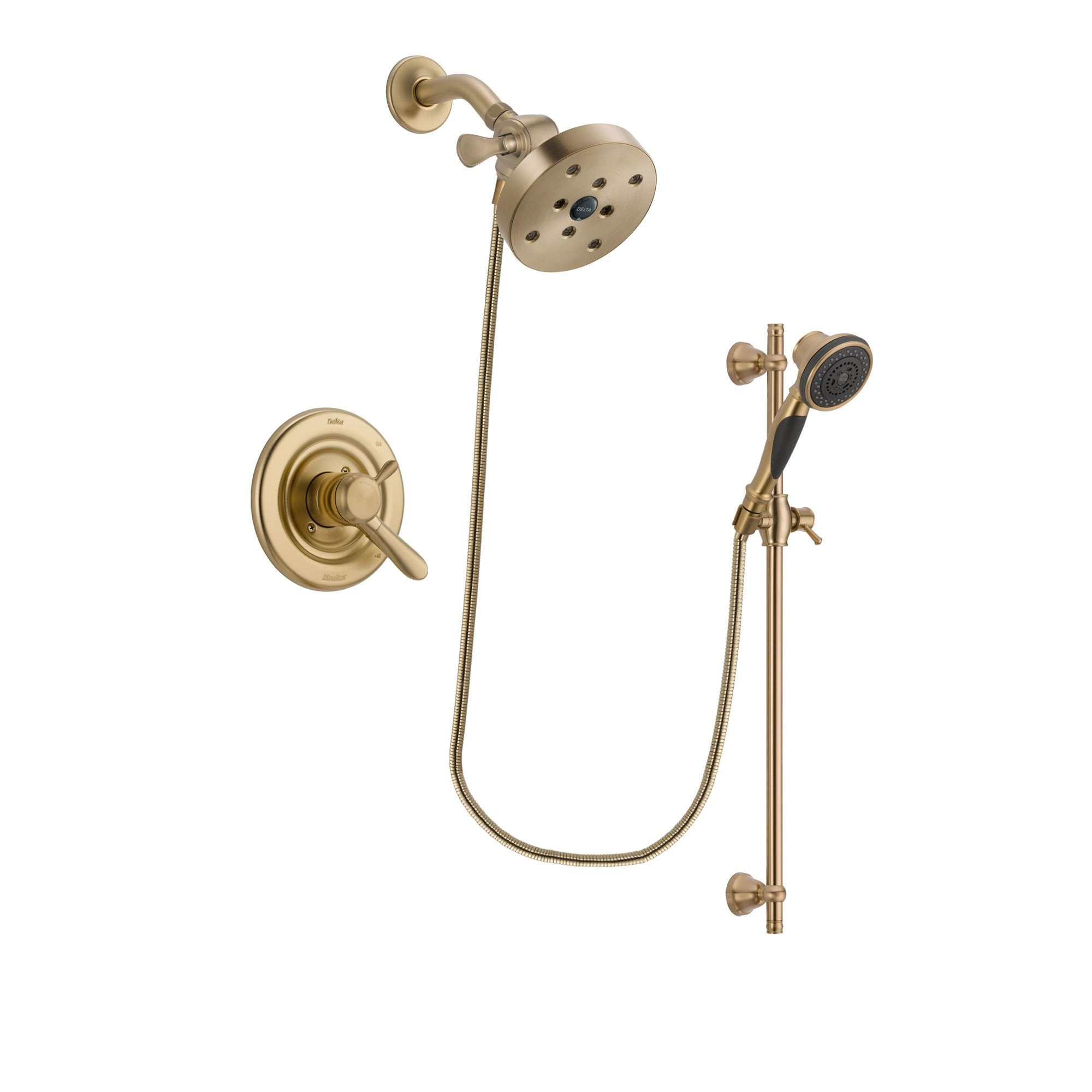 Delta Lahara Champagne Bronze Shower Faucet System with Hand Shower DSP3620V