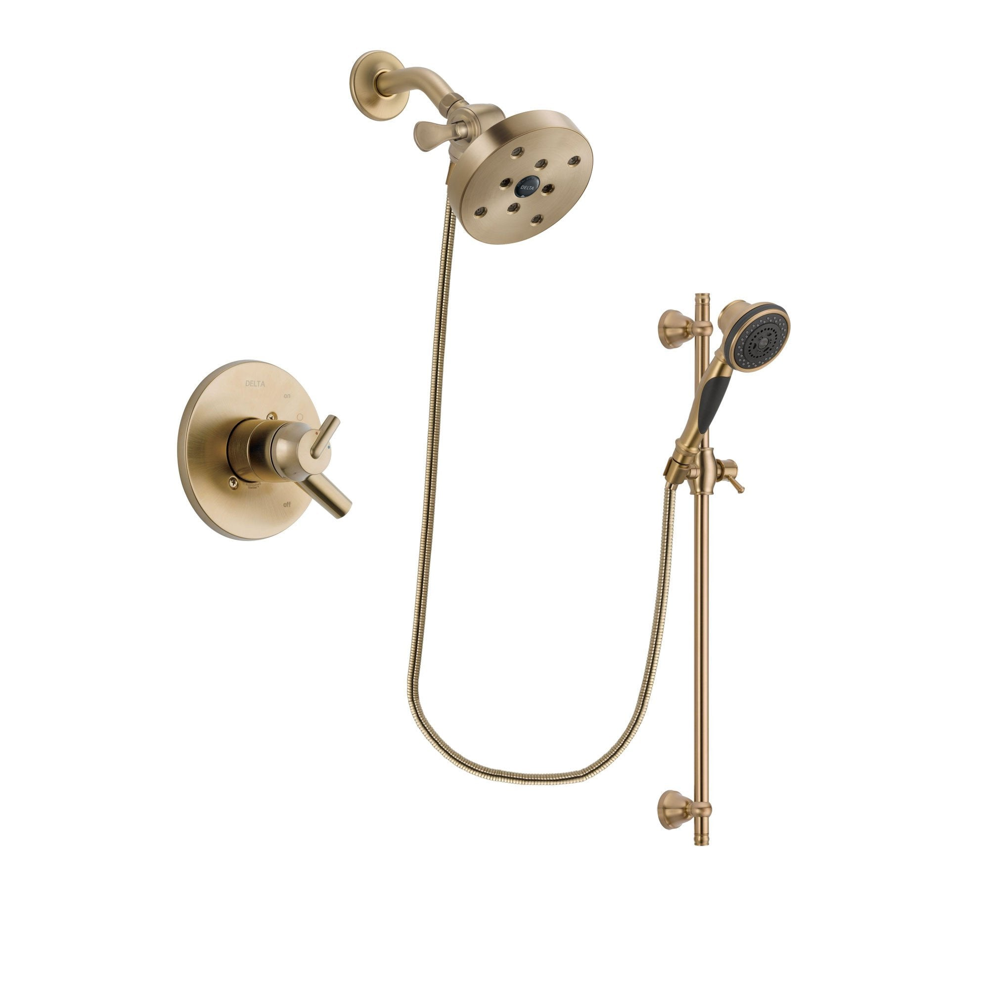 Delta Trinsic Champagne Bronze Shower Faucet System with Hand Shower DSP3622V