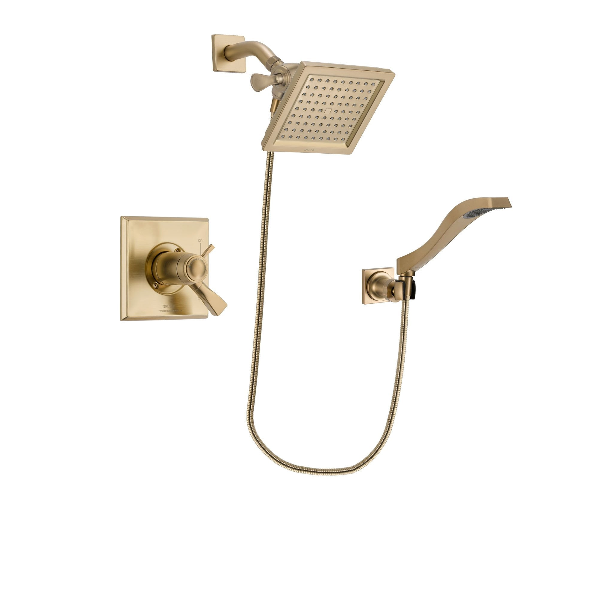Delta Dryden Champagne Bronze Shower Faucet System with Hand Shower DSP3850V