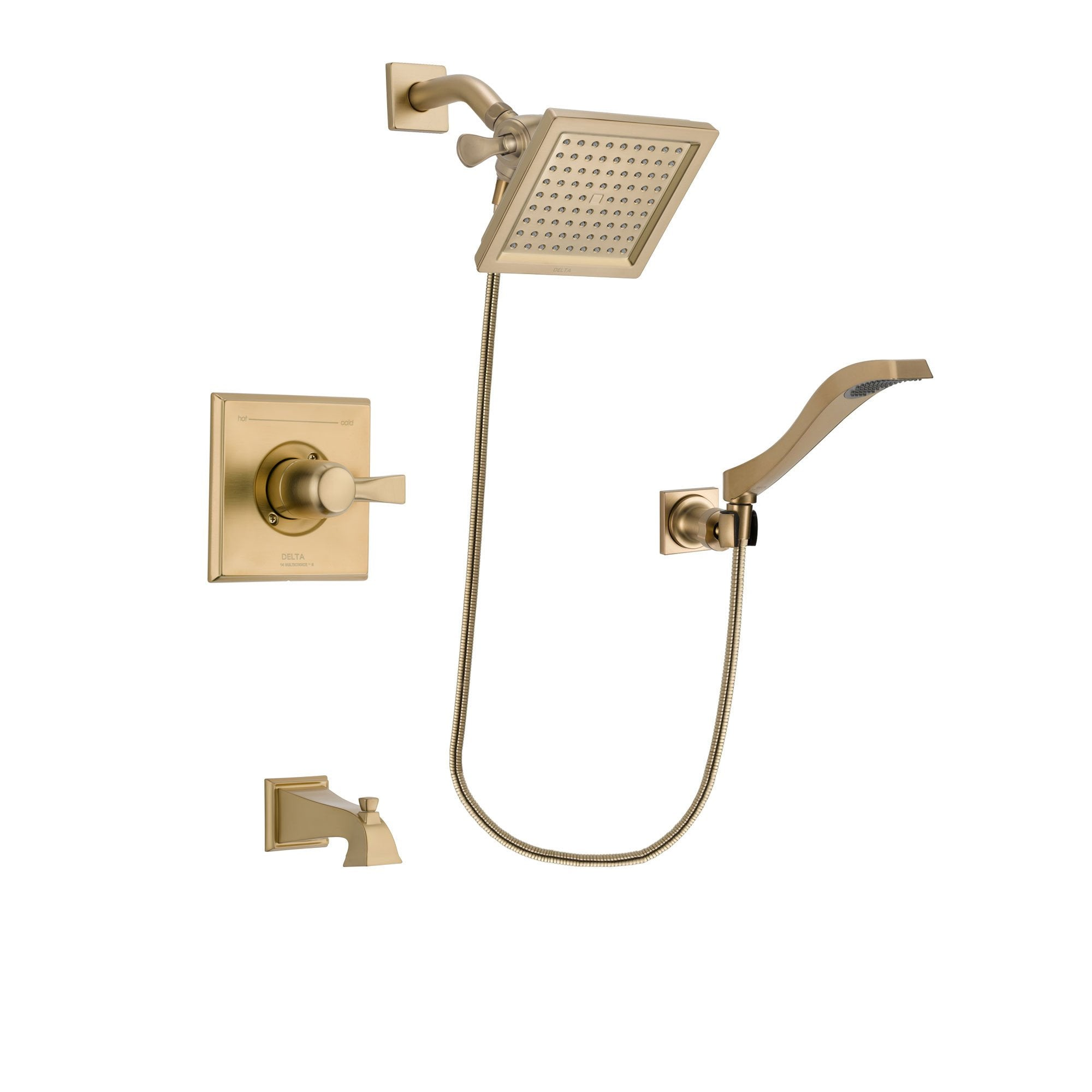 Delta Dryden Champagne Bronze Tub and Shower System with Hand Shower DSP3853V