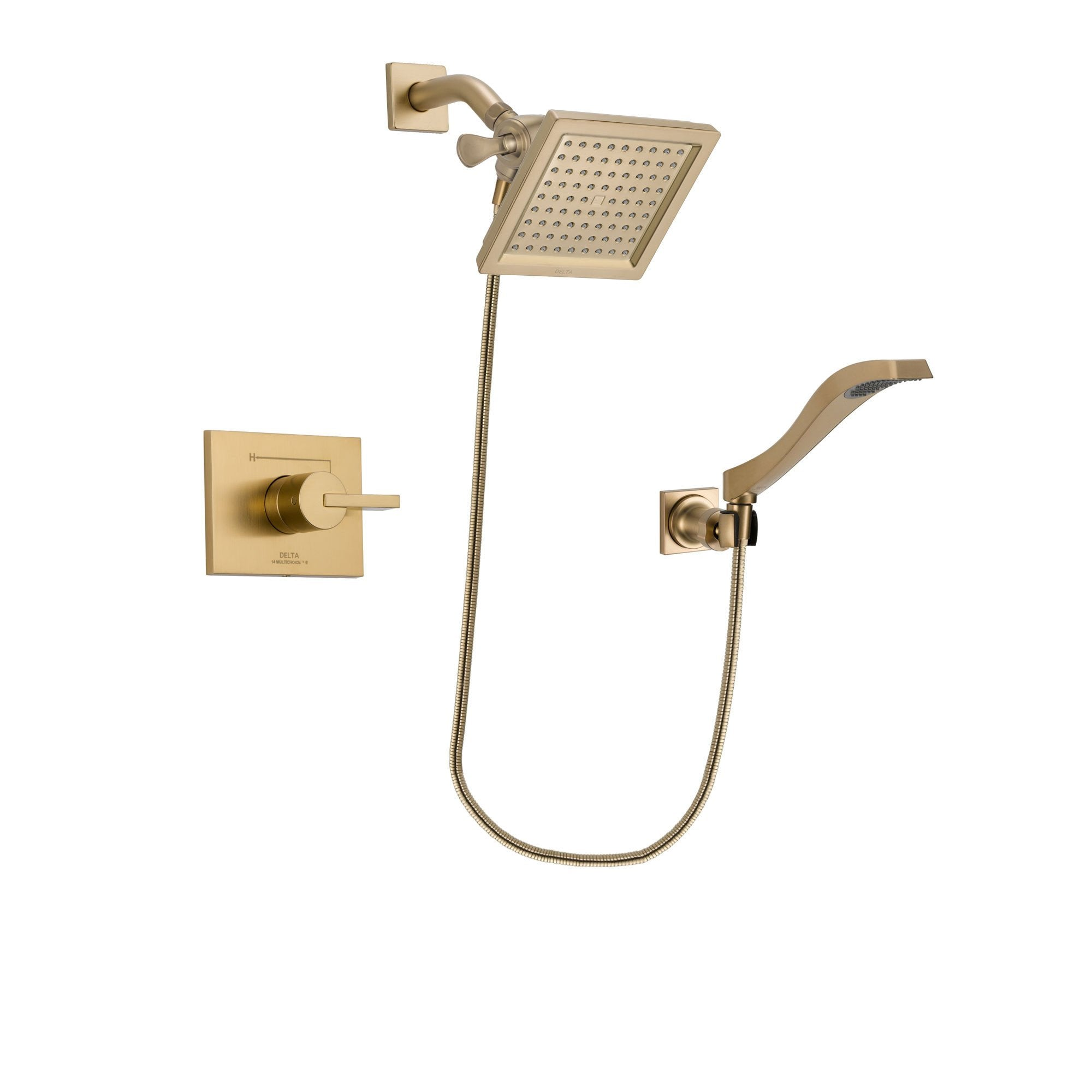 Delta Vero Champagne Bronze Shower Faucet System with Hand Shower DSP3856V