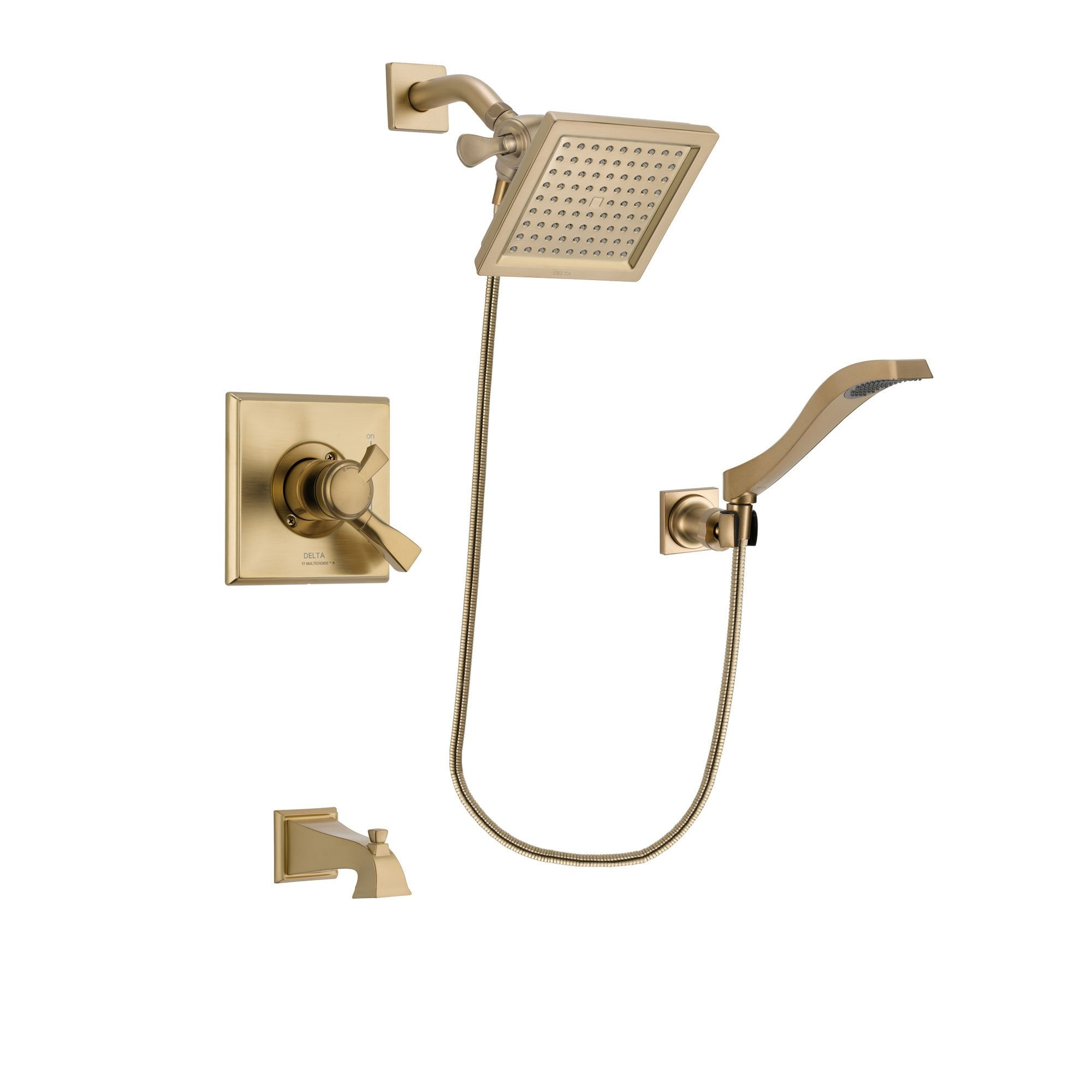 Delta Dryden Champagne Bronze Tub and Shower System with Hand Shower DSP3857V