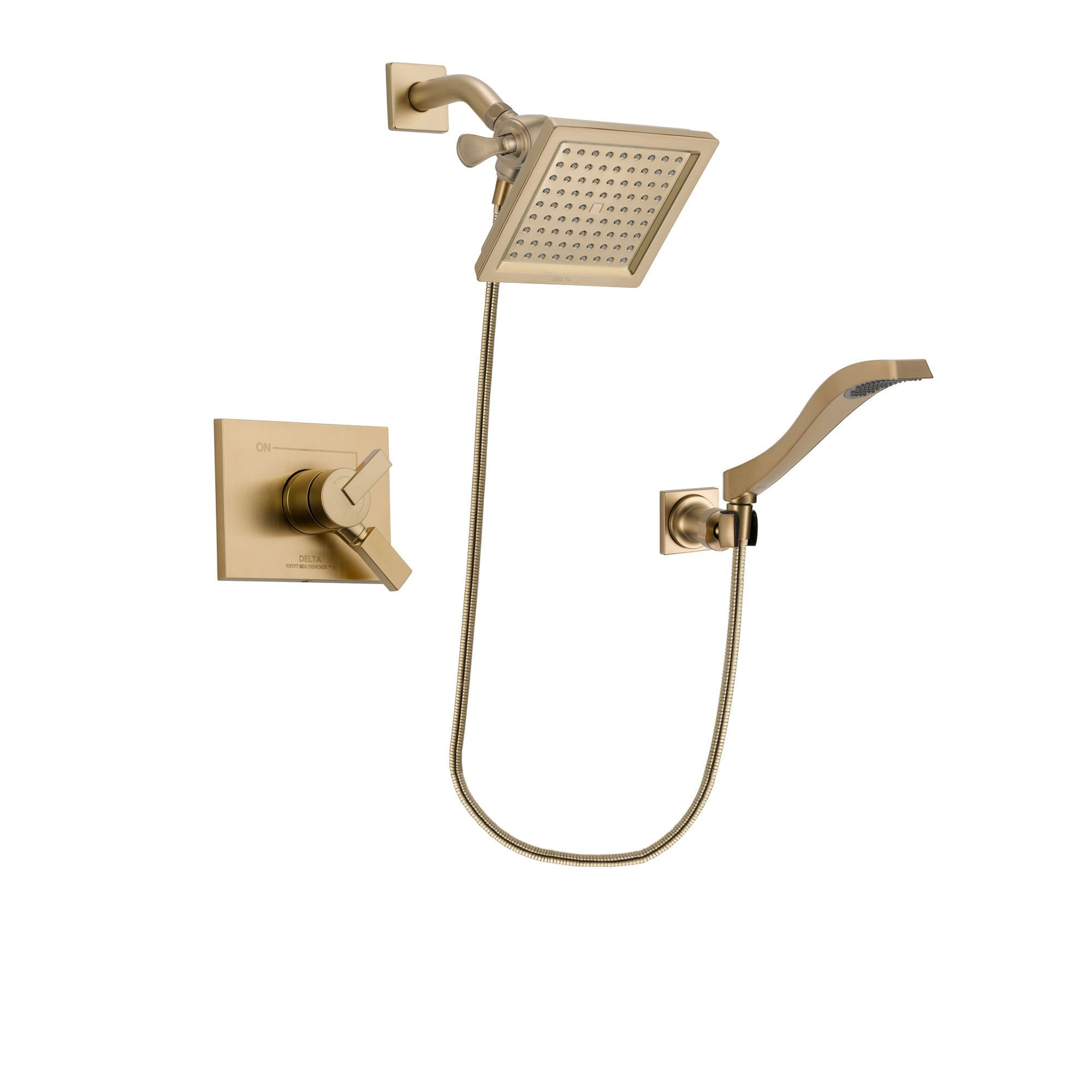 Delta Vero Champagne Bronze Shower Faucet System with Hand Shower DSP3860V