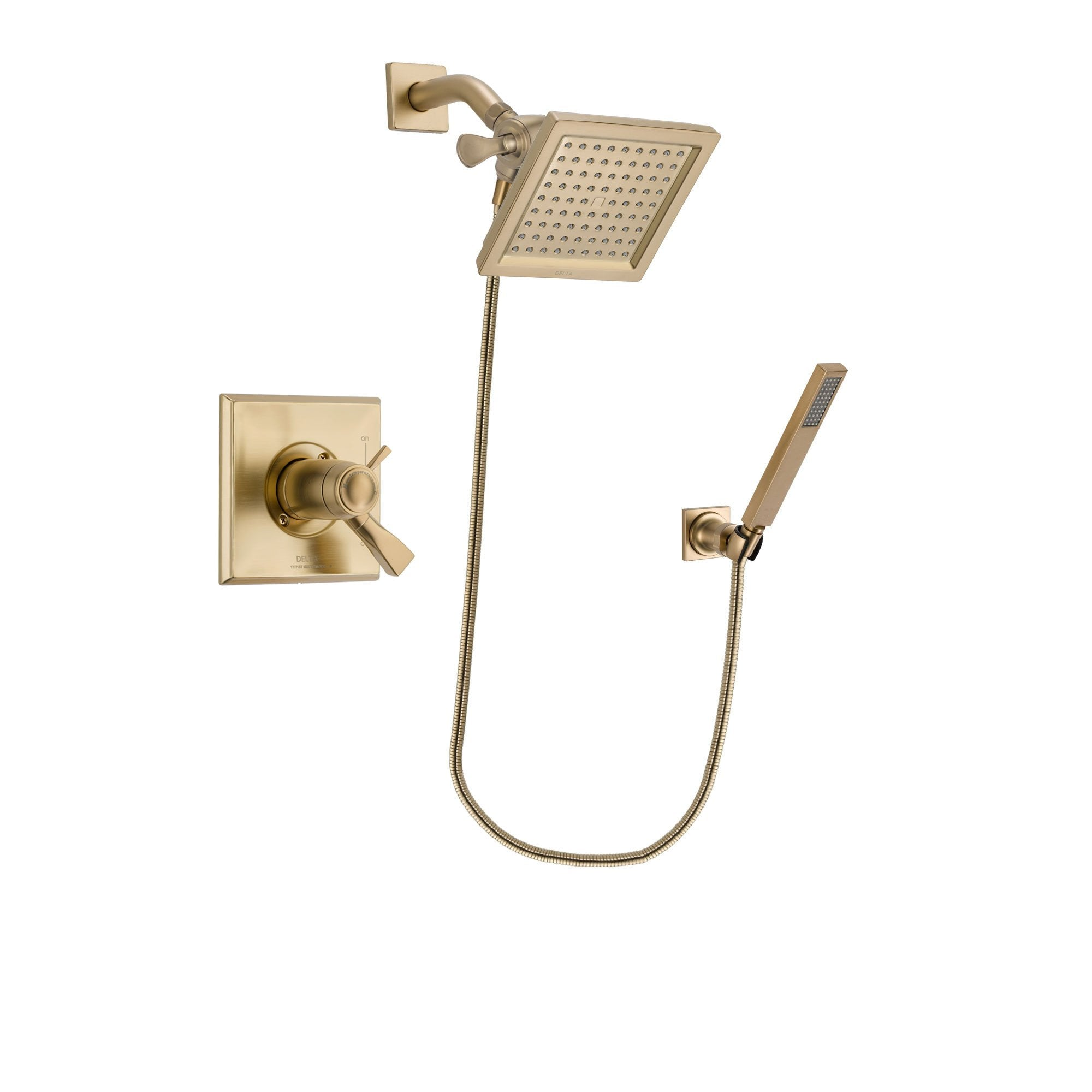 Delta Dryden Champagne Bronze Shower Faucet System with Hand Shower DSP3886V