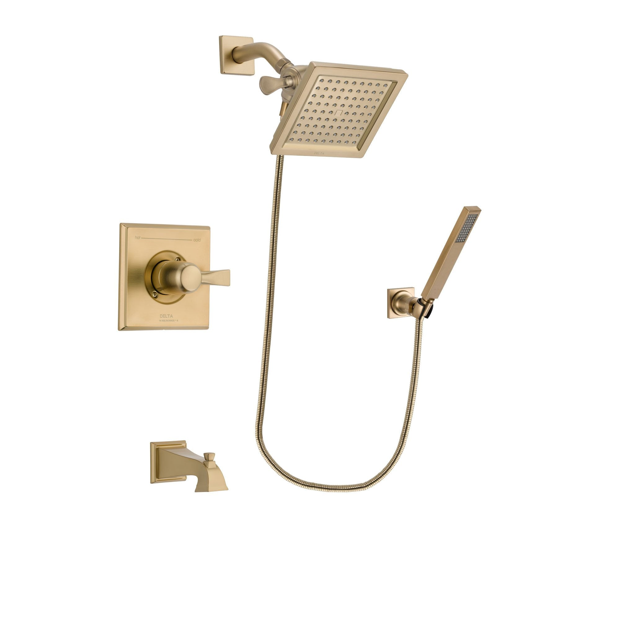 Delta Dryden Champagne Bronze Tub and Shower System with Hand Shower DSP3889V
