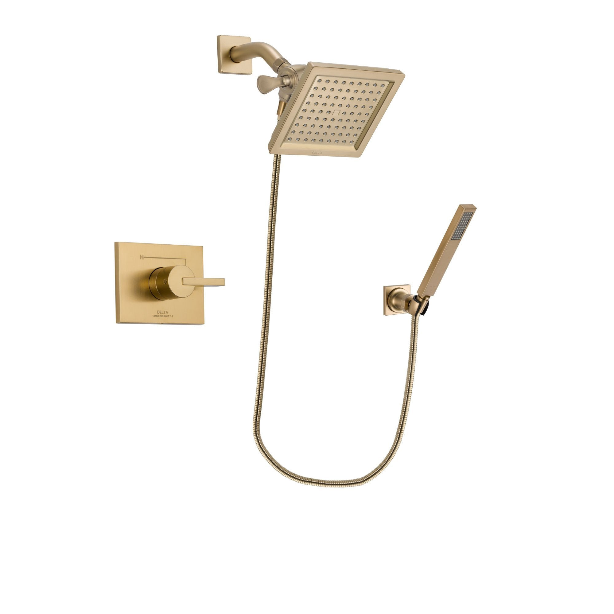Delta Vero Champagne Bronze Shower Faucet System with Hand Shower DSP3892V