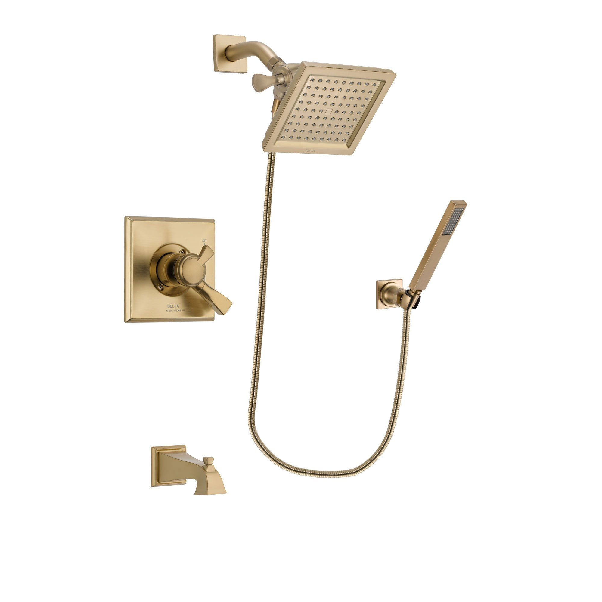 Delta Dryden Champagne Bronze Tub and Shower System with Hand Shower DSP3893V
