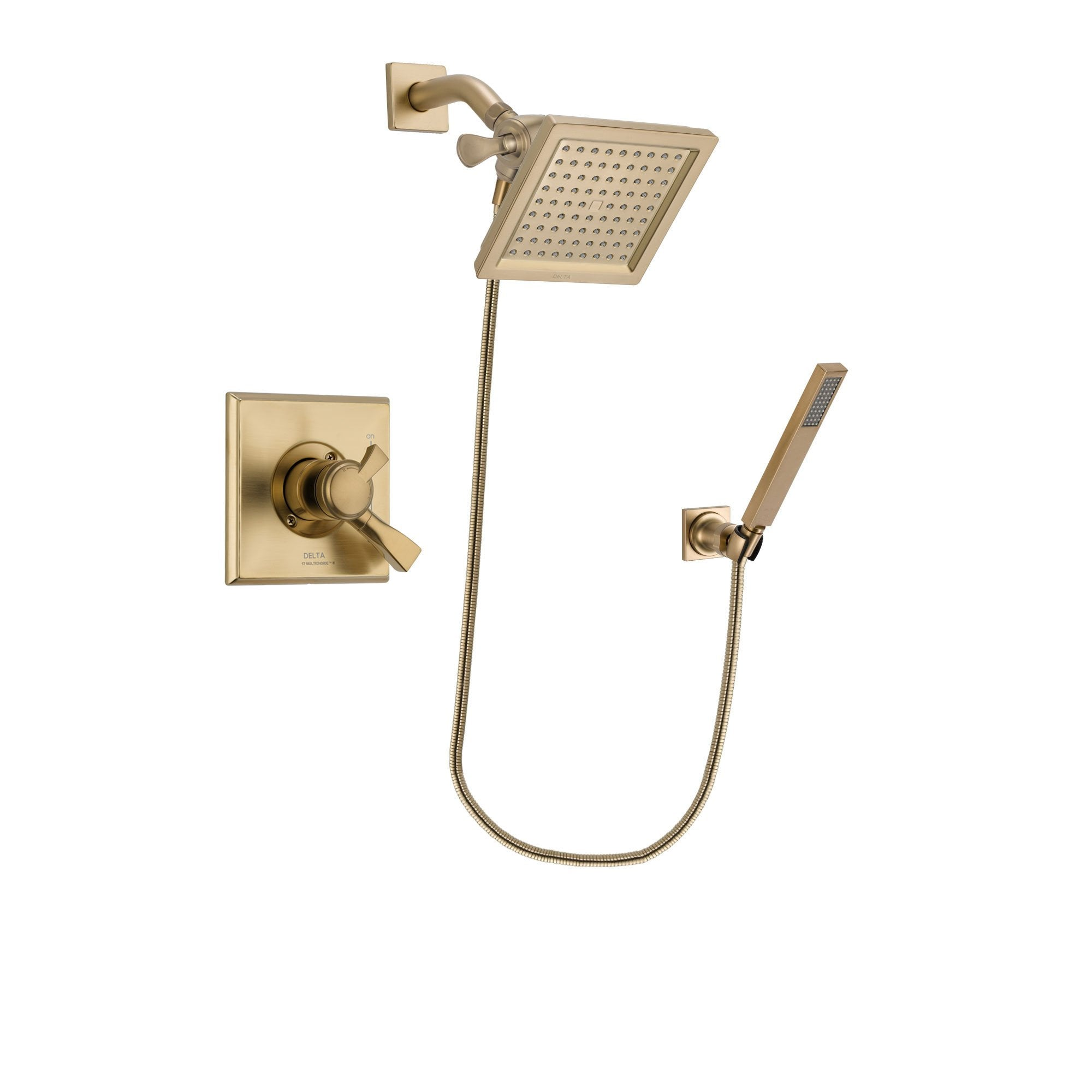 Delta Dryden Champagne Bronze Shower Faucet System with Hand Shower DSP3894V