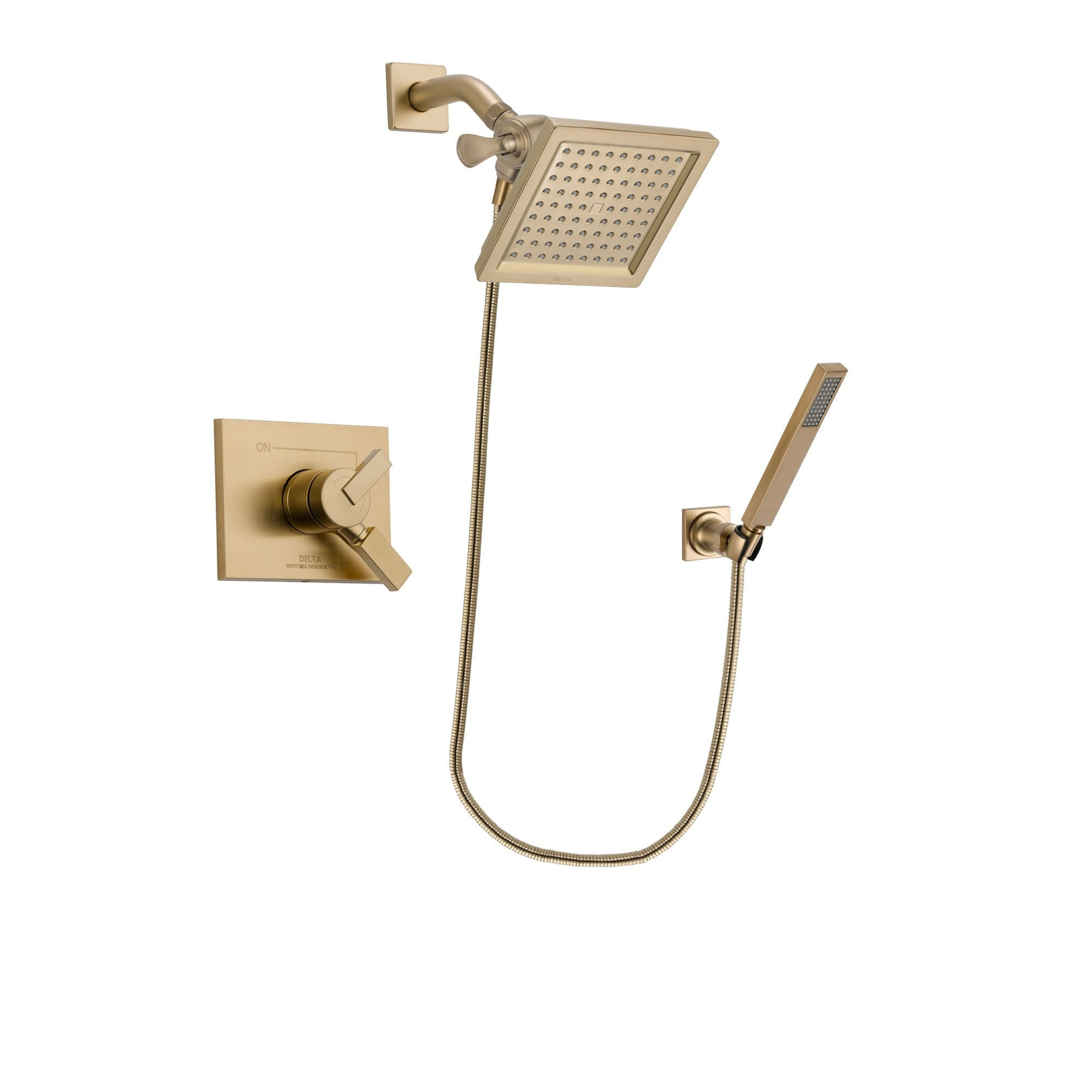 Delta Vero Champagne Bronze Shower Faucet System with Hand Shower DSP3896V