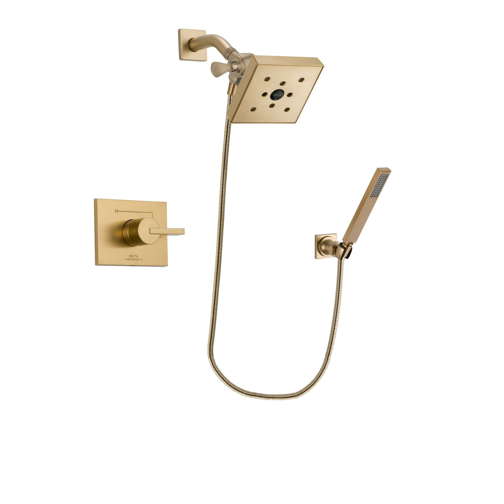 Delta Vero Champagne Bronze Shower Faucet System with Hand Shower DSP3904V