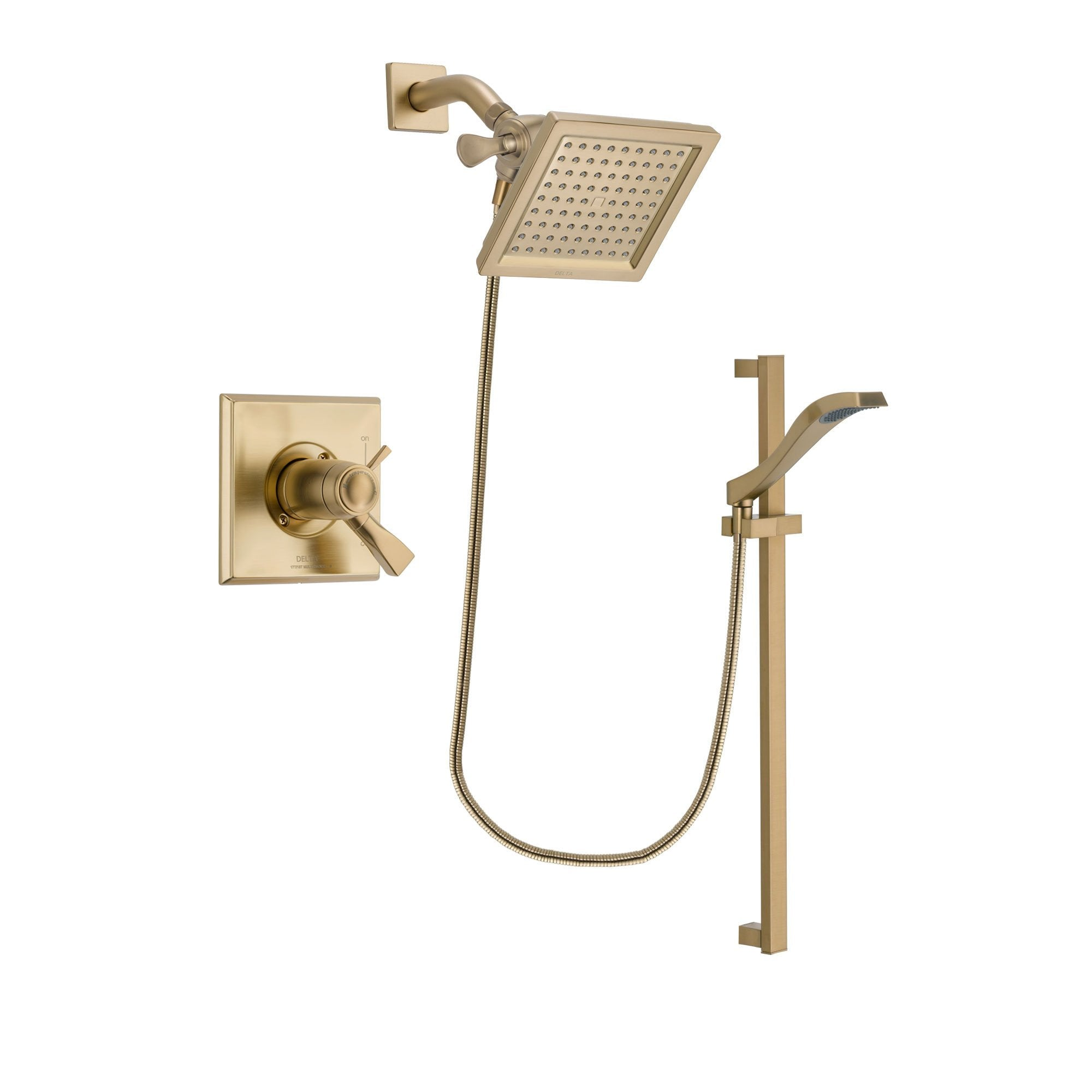 Delta Dryden Champagne Bronze Shower Faucet System with Hand Shower DSP3922V