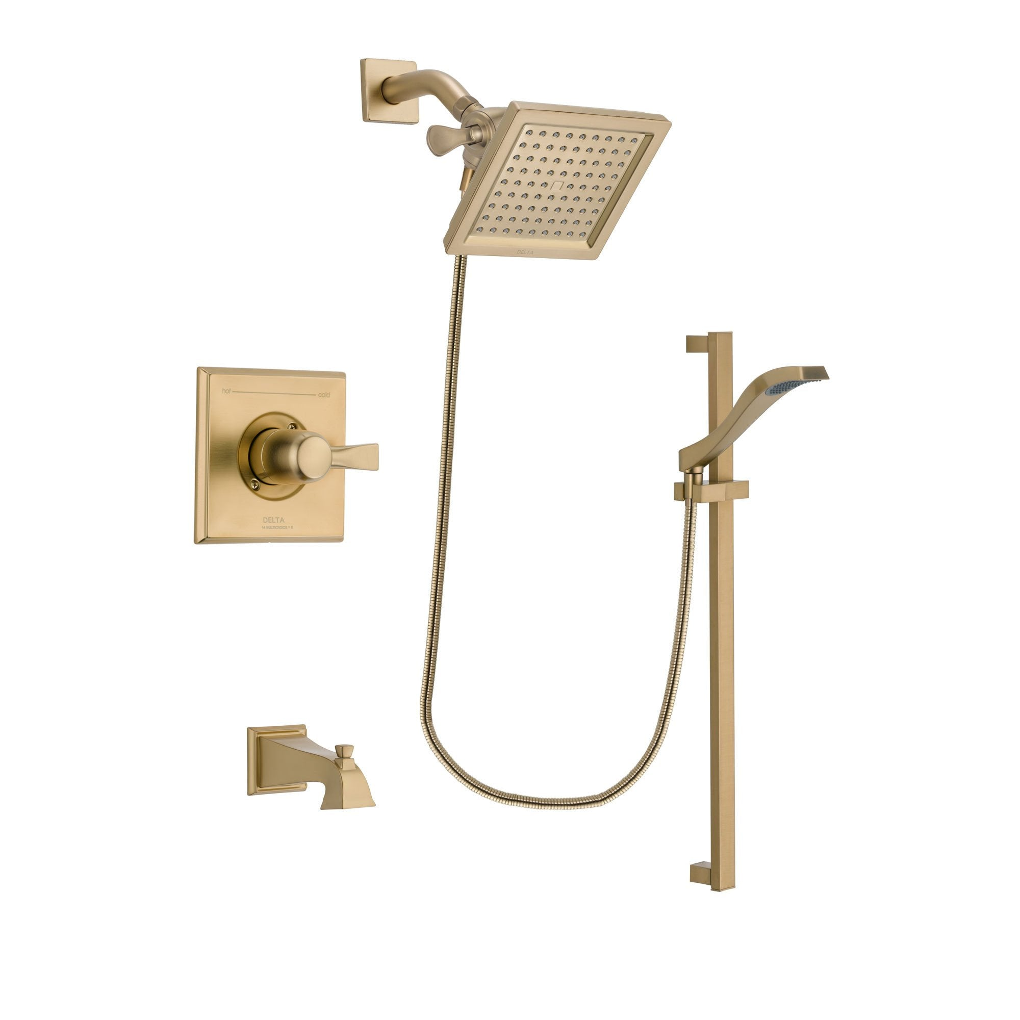 Delta Dryden Champagne Bronze Tub and Shower System with Hand Shower DSP3925V
