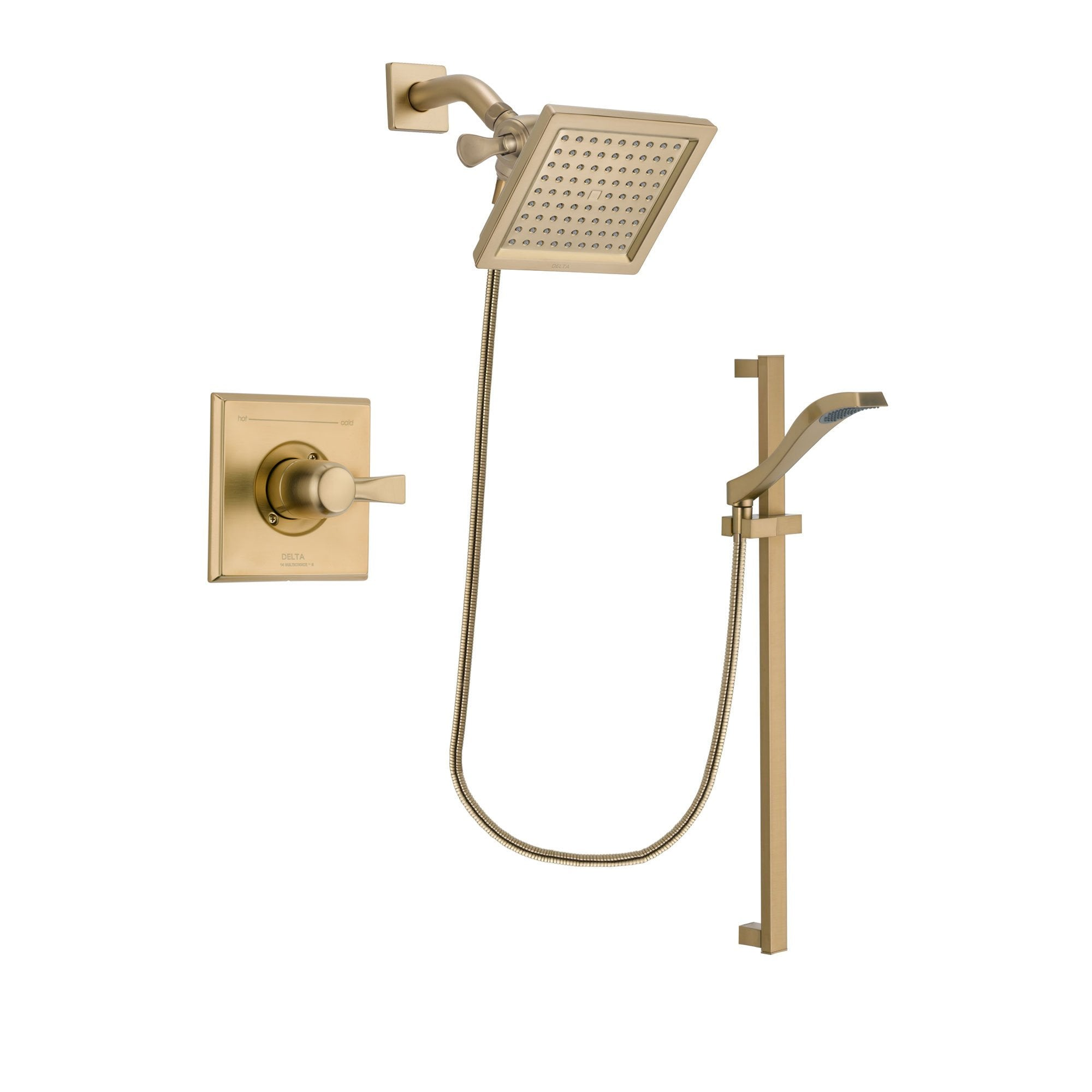 Delta Dryden Champagne Bronze Shower Faucet System with Hand Shower DSP3926V