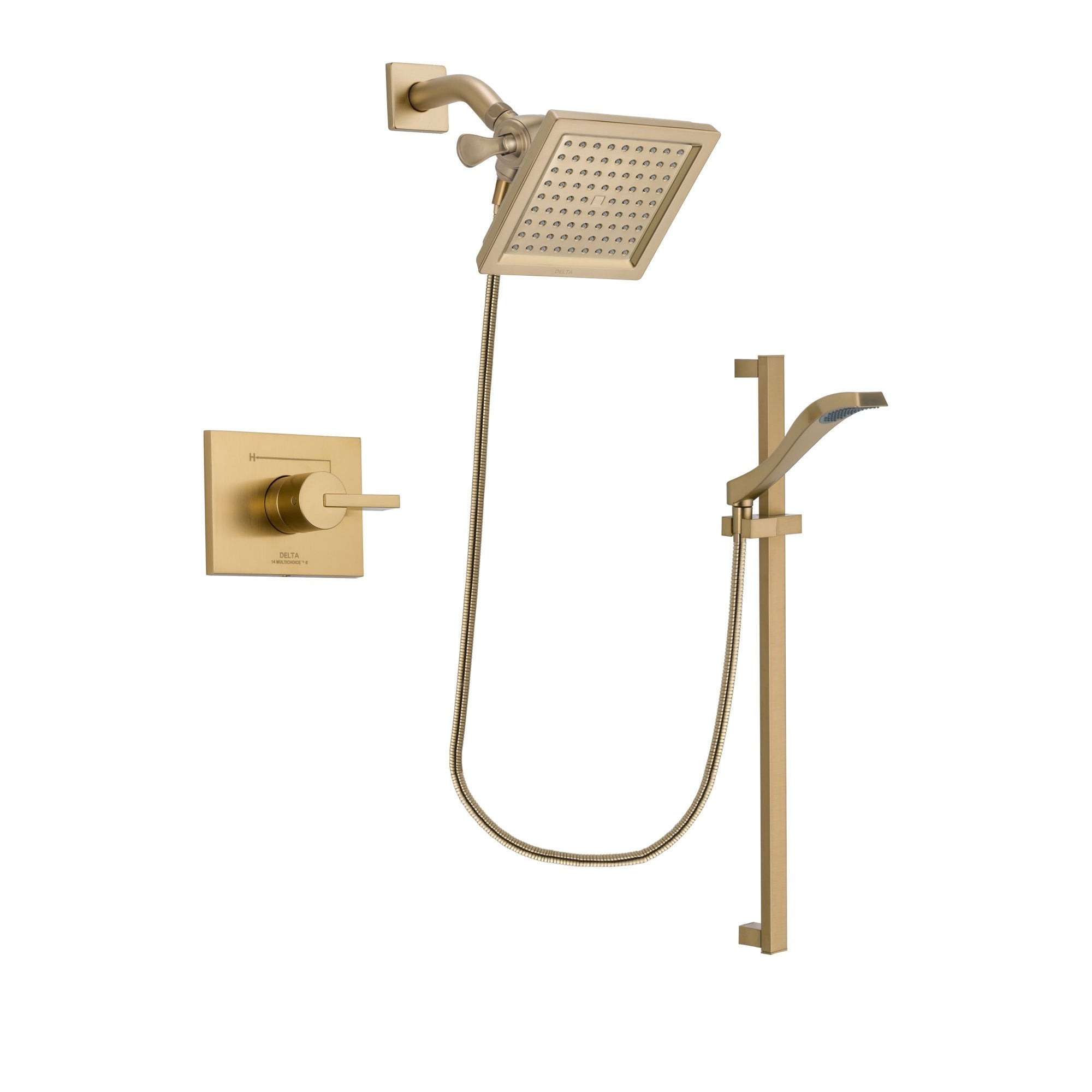 Delta Vero Champagne Bronze Shower Faucet System with Hand Shower DSP3928V