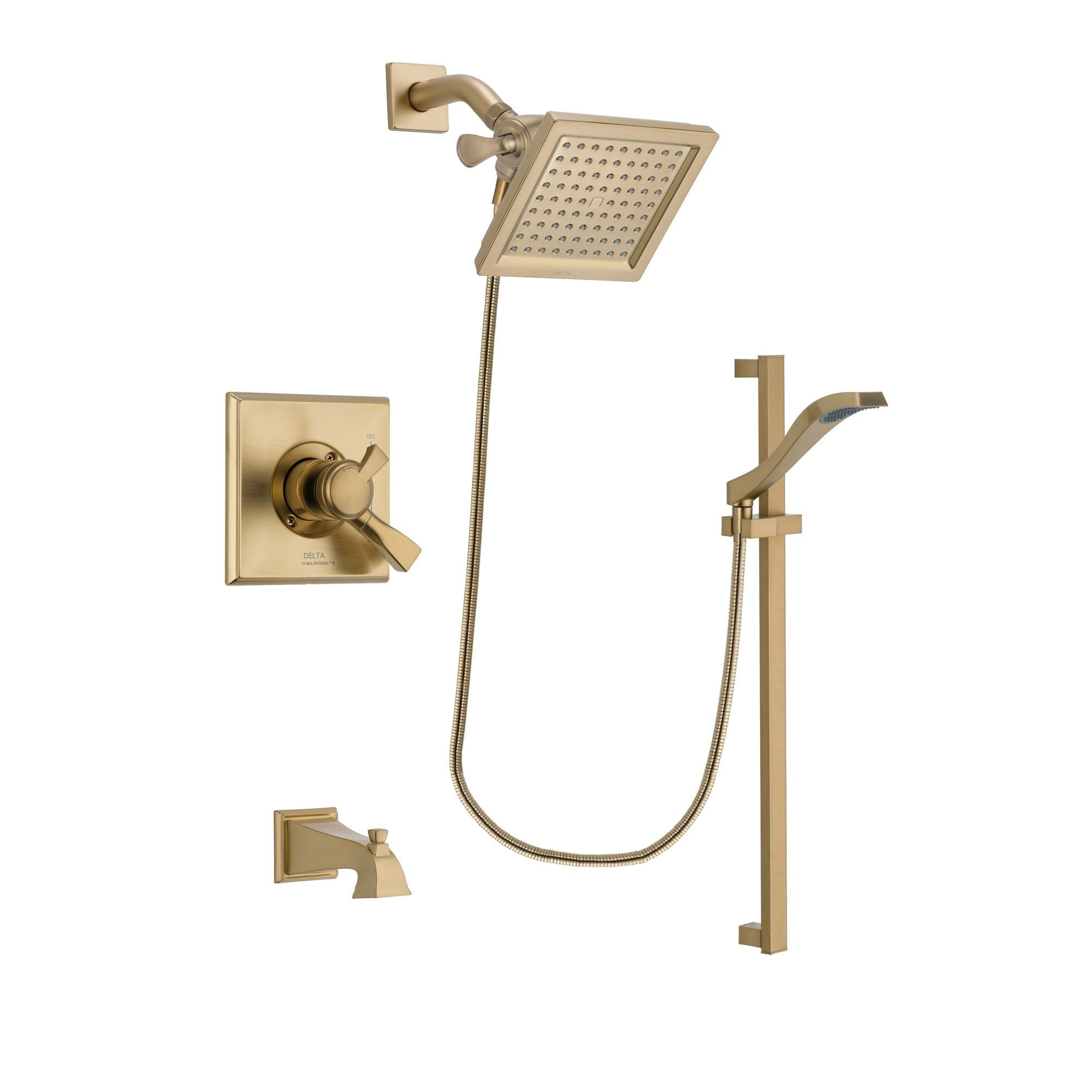 Delta Dryden Champagne Bronze Tub and Shower System with Hand Shower DSP3929V